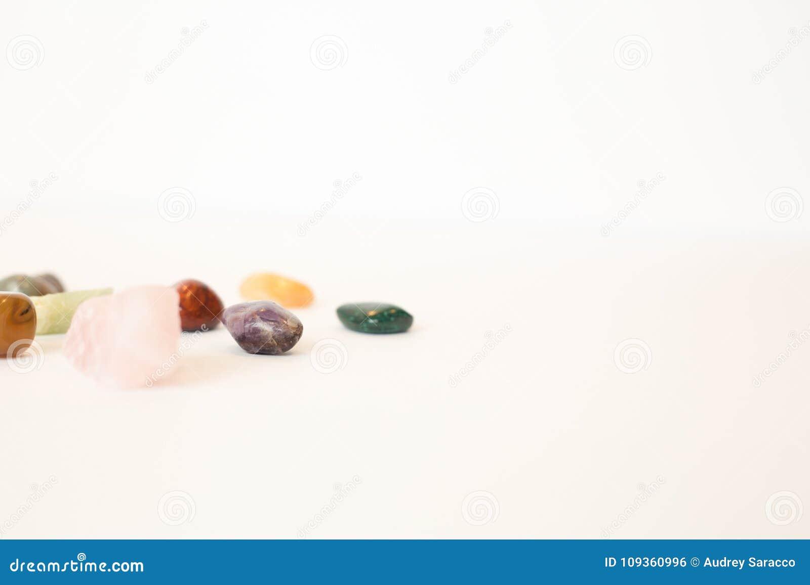 Healing Crystals shot in studio.