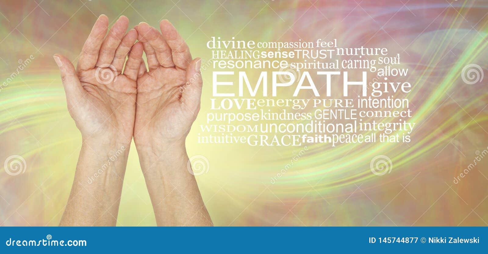 The healing hands of an empath Word Cloud