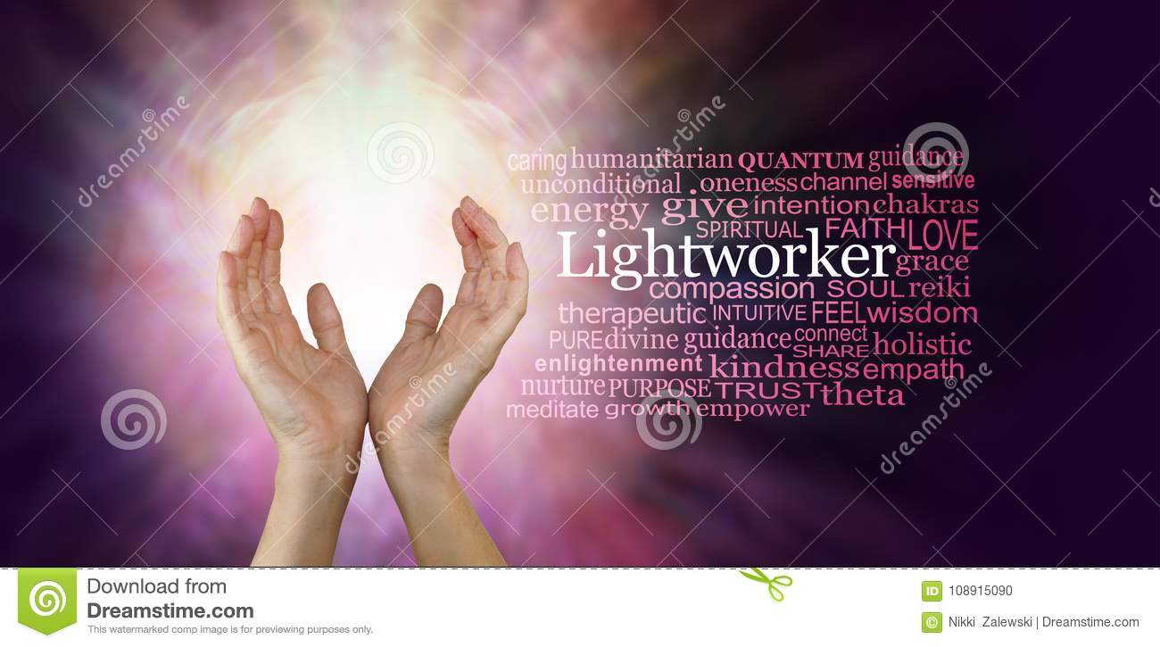 Download The Healing Hands Of A Light Worker Stock Photo - Image of coloured, heal: 108915090