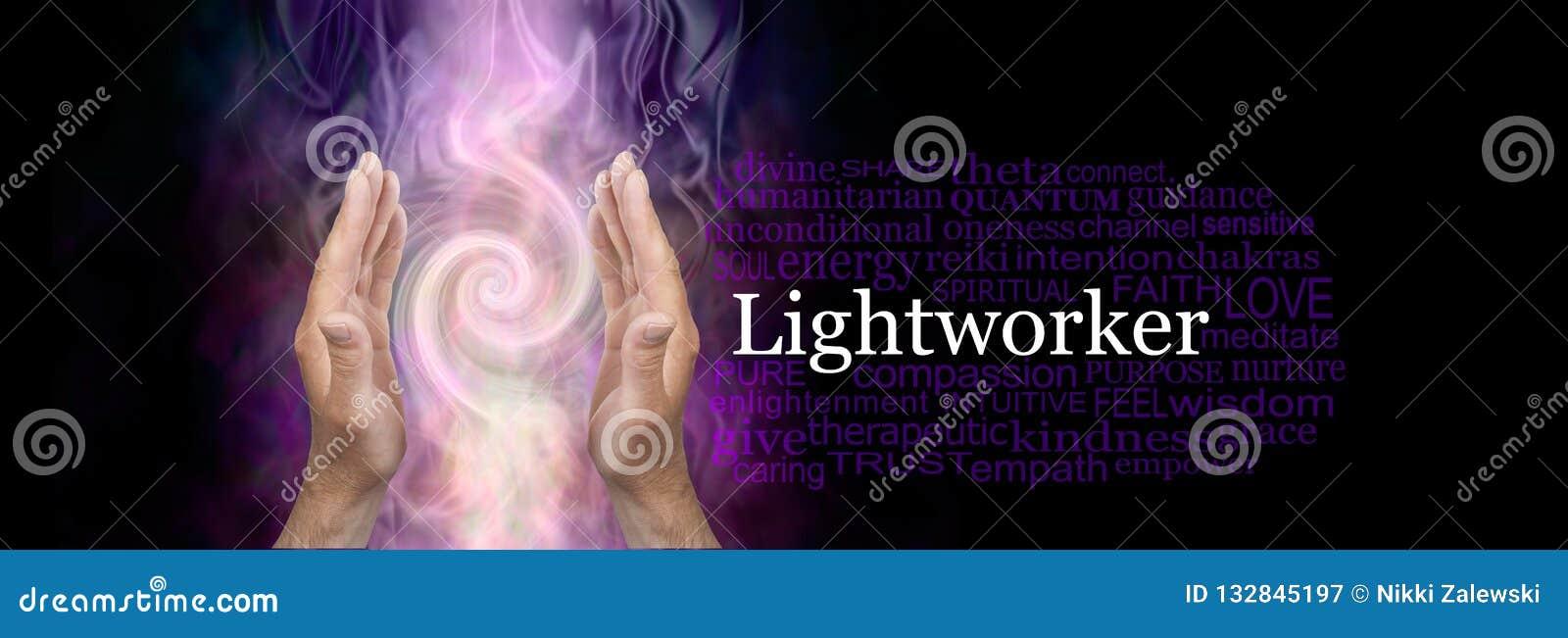 The healing hands of a male Light worker word cloud