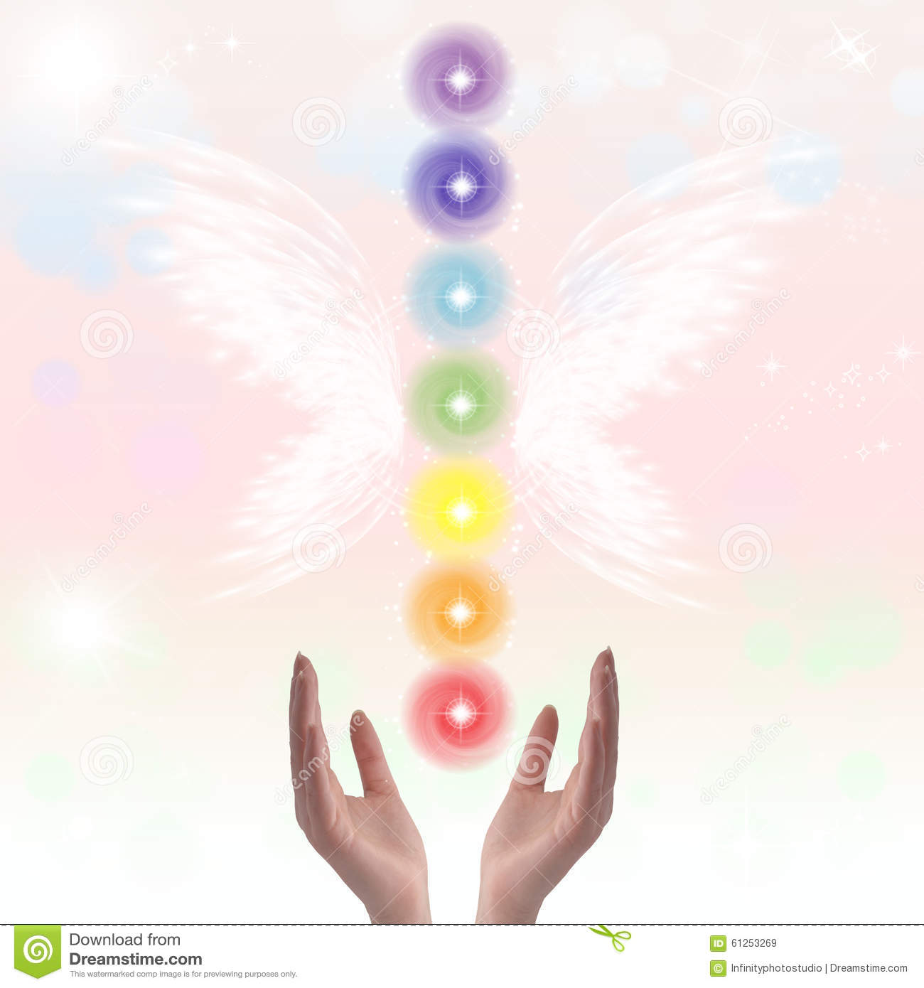 Healing hands and seven chakras stock image image of light healing hands and seven chakras light complementary buycottarizona Image collections