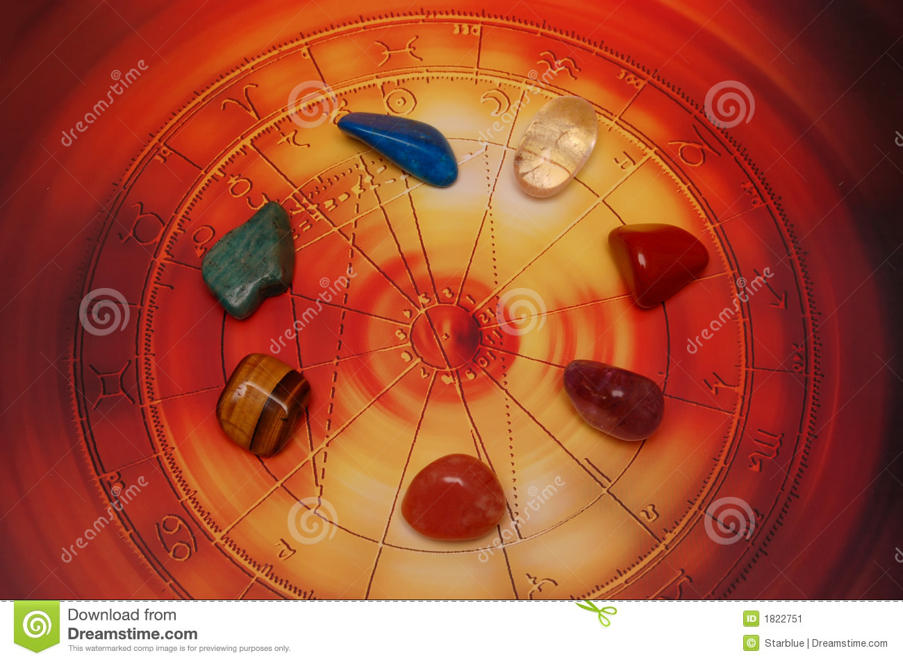 Healing stones stock image  Image of signs, astrological - 1822751