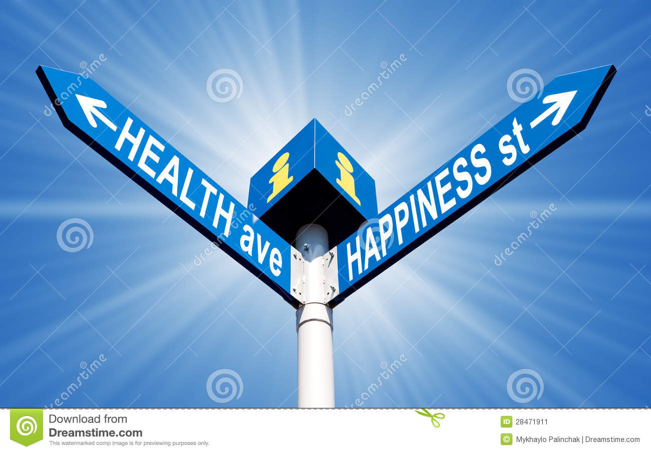 Health Ave And Happiness St Stock Image - Image: 28471911