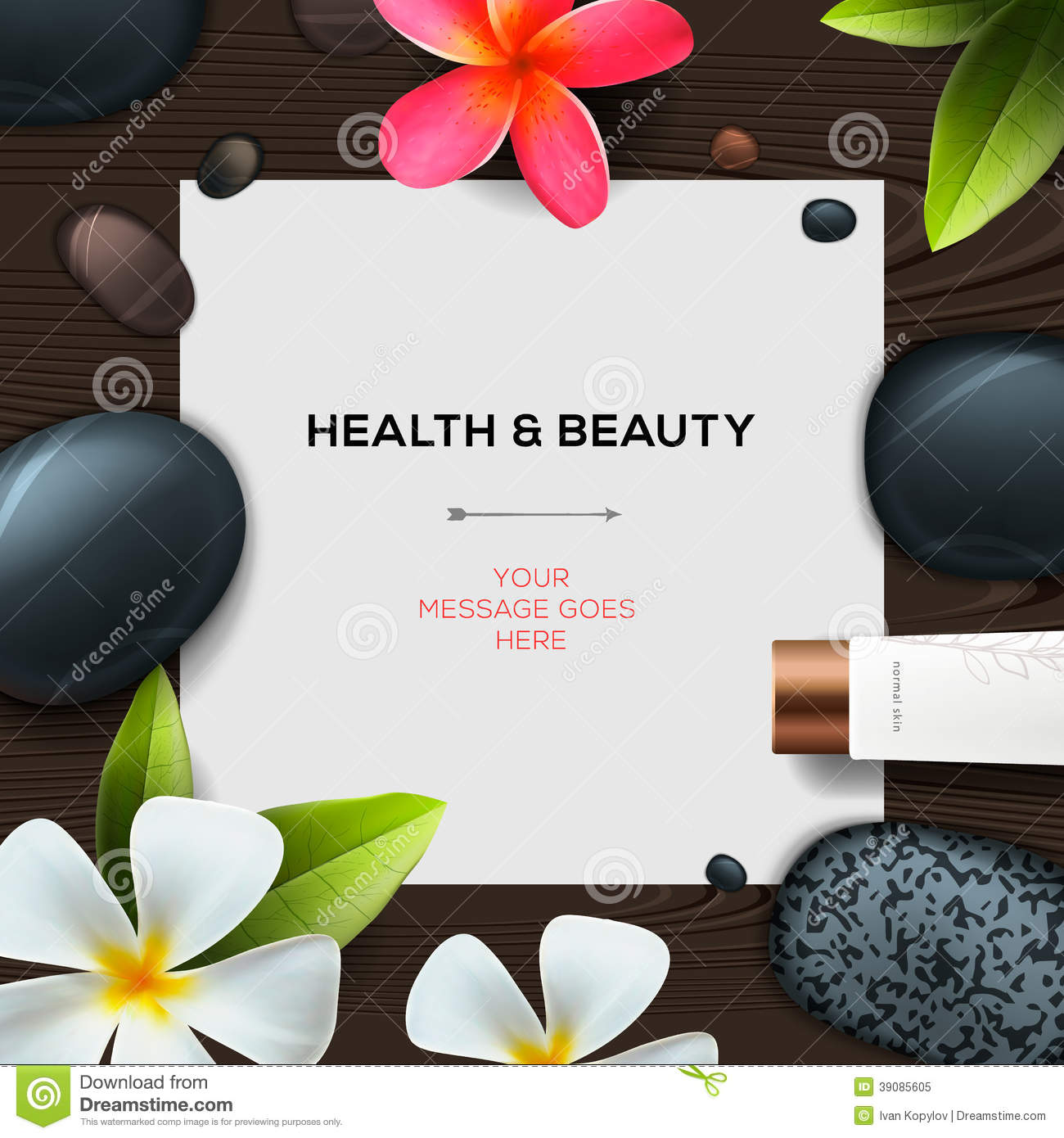 health and beauty template stock photo