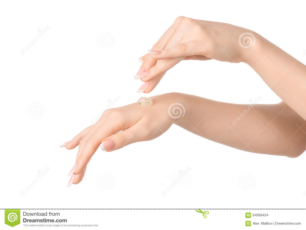 Health And Body Care Theme: Beautiful Female Hand With A ...