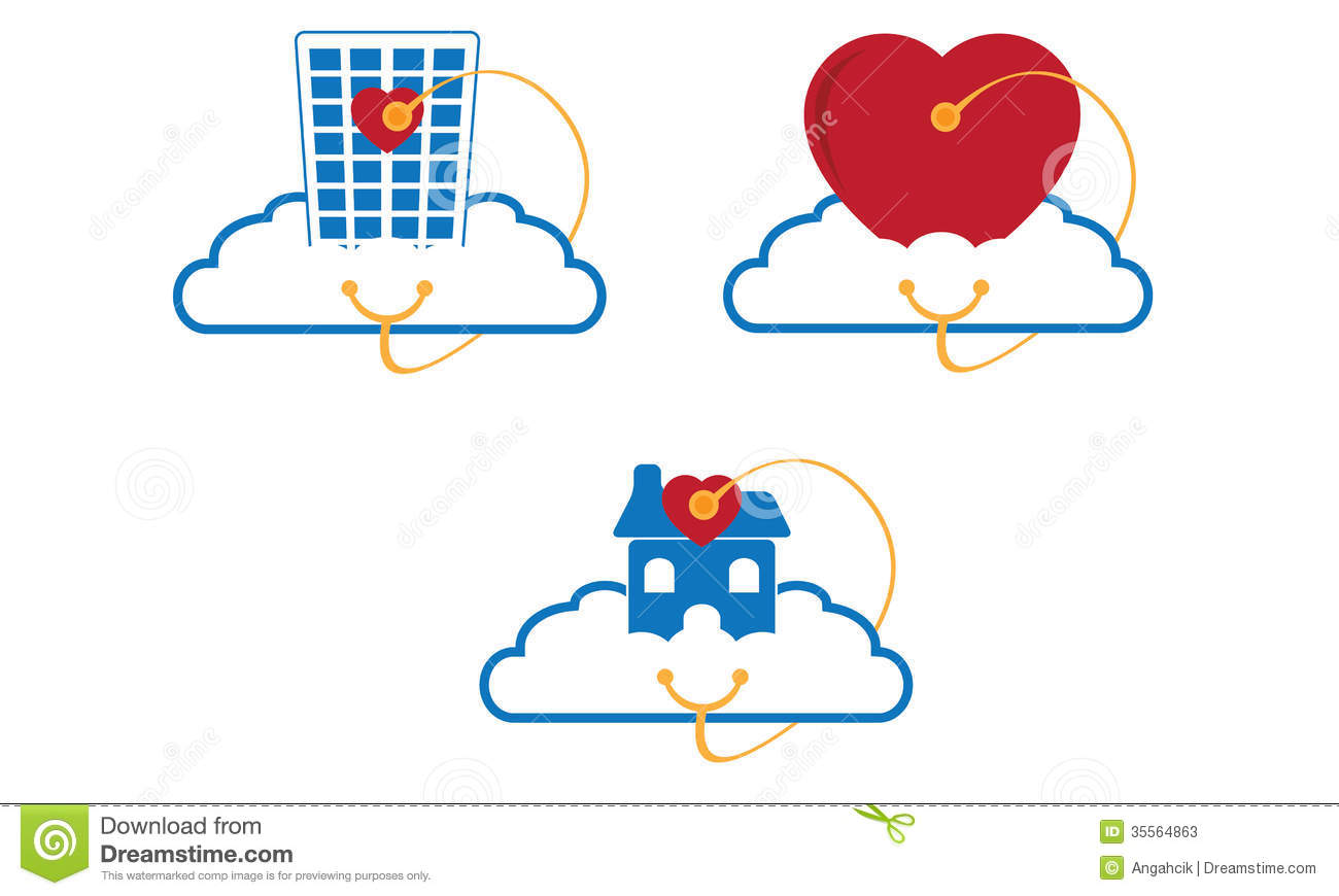 Cloud/internet business and services company logo suitable for nursing ...