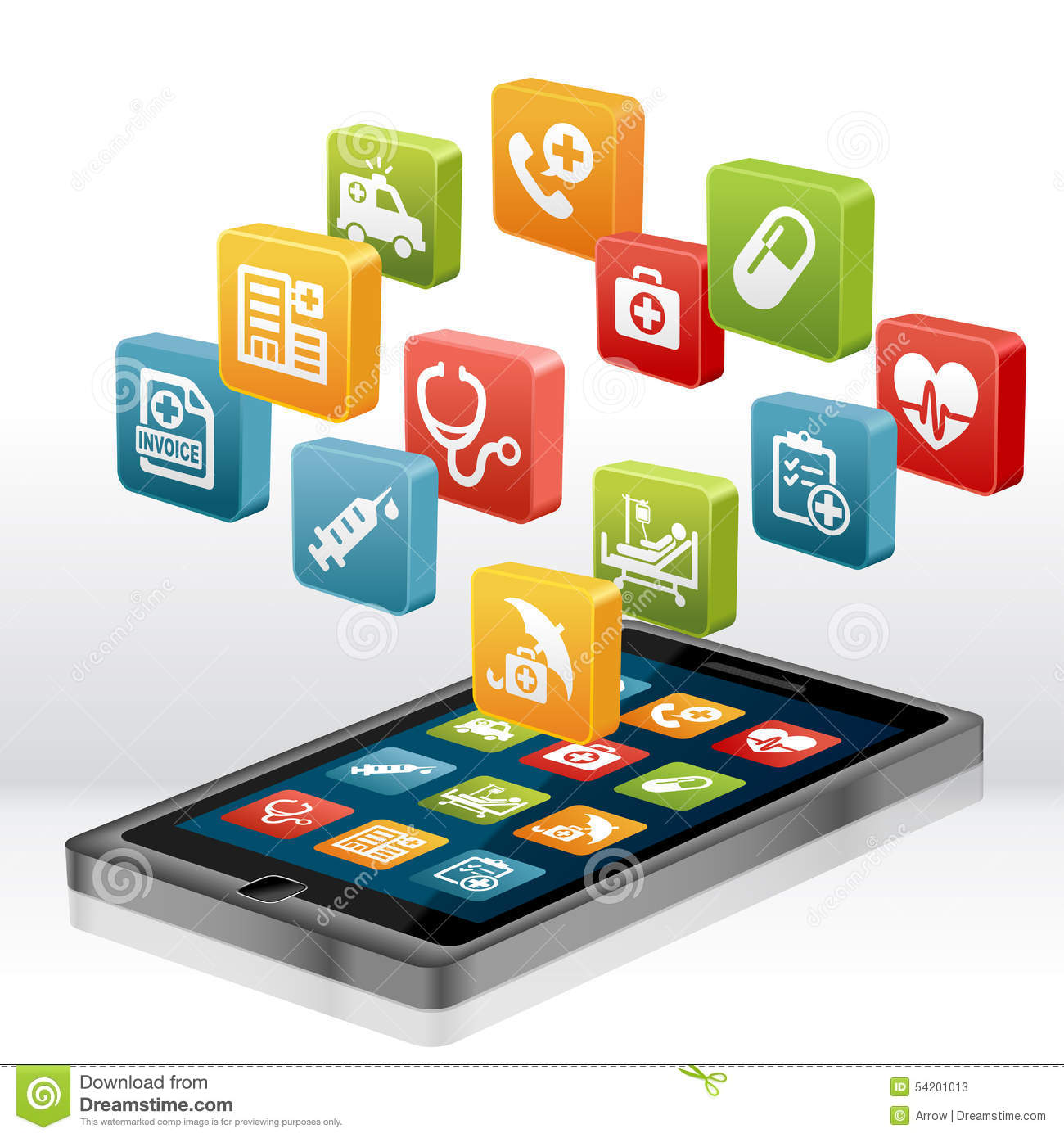 Health Care And Medical Apps Stock Illustration Image