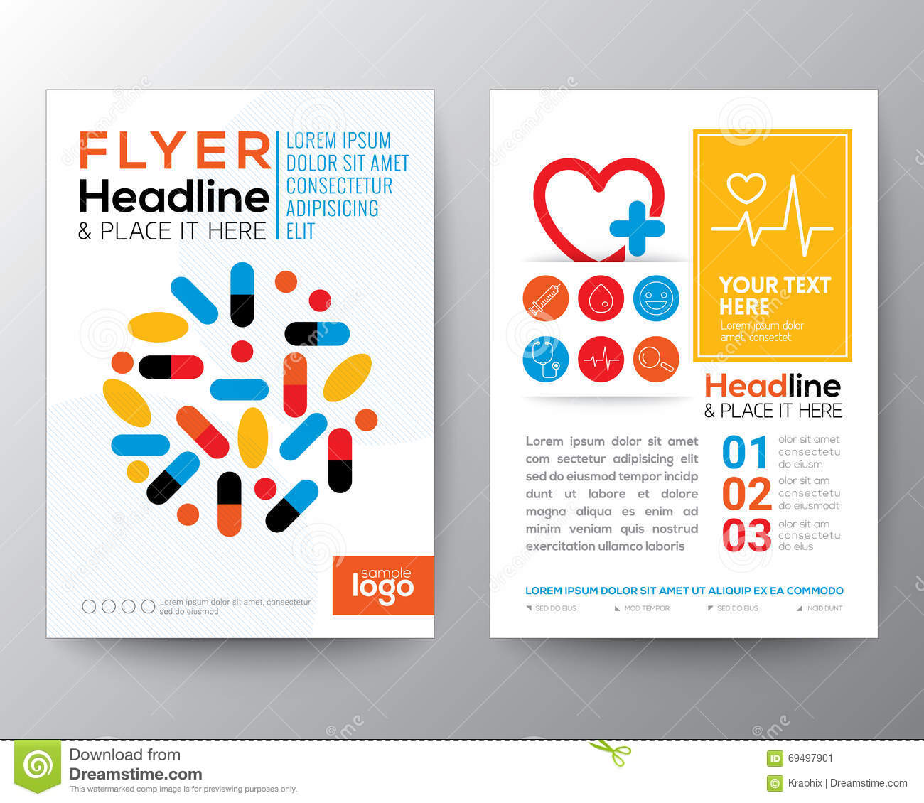 Health Care And Medical Poster Brochure Flyer Design Layout Stock ...