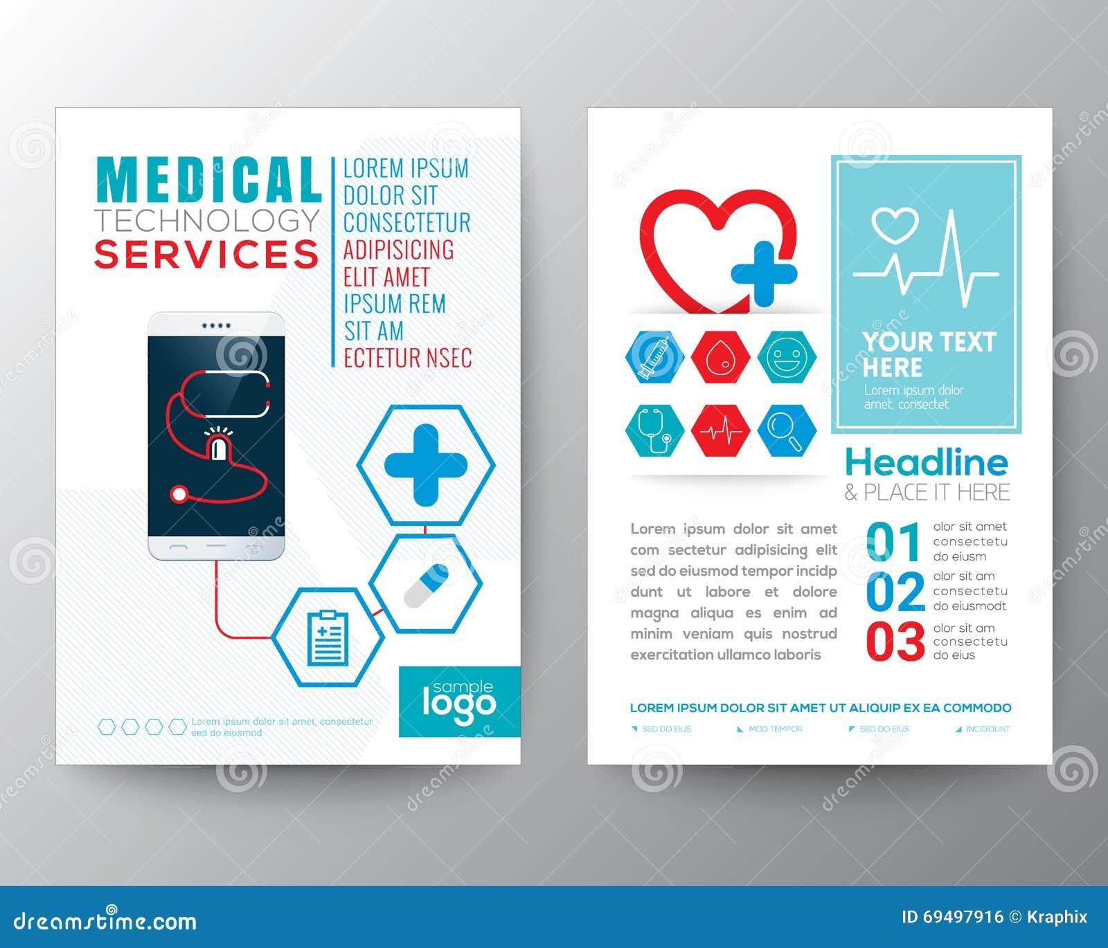 Poster design template free - Brochure Care Design Flyer Health Layout Medical Poster