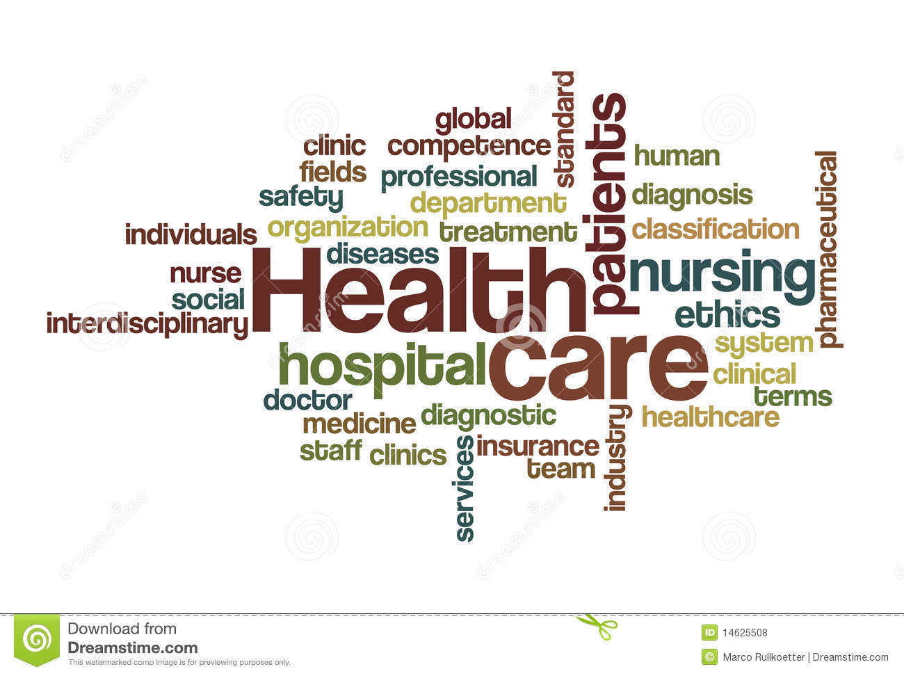 Health Care Word Cloud Royalty Free Stock Photos Image