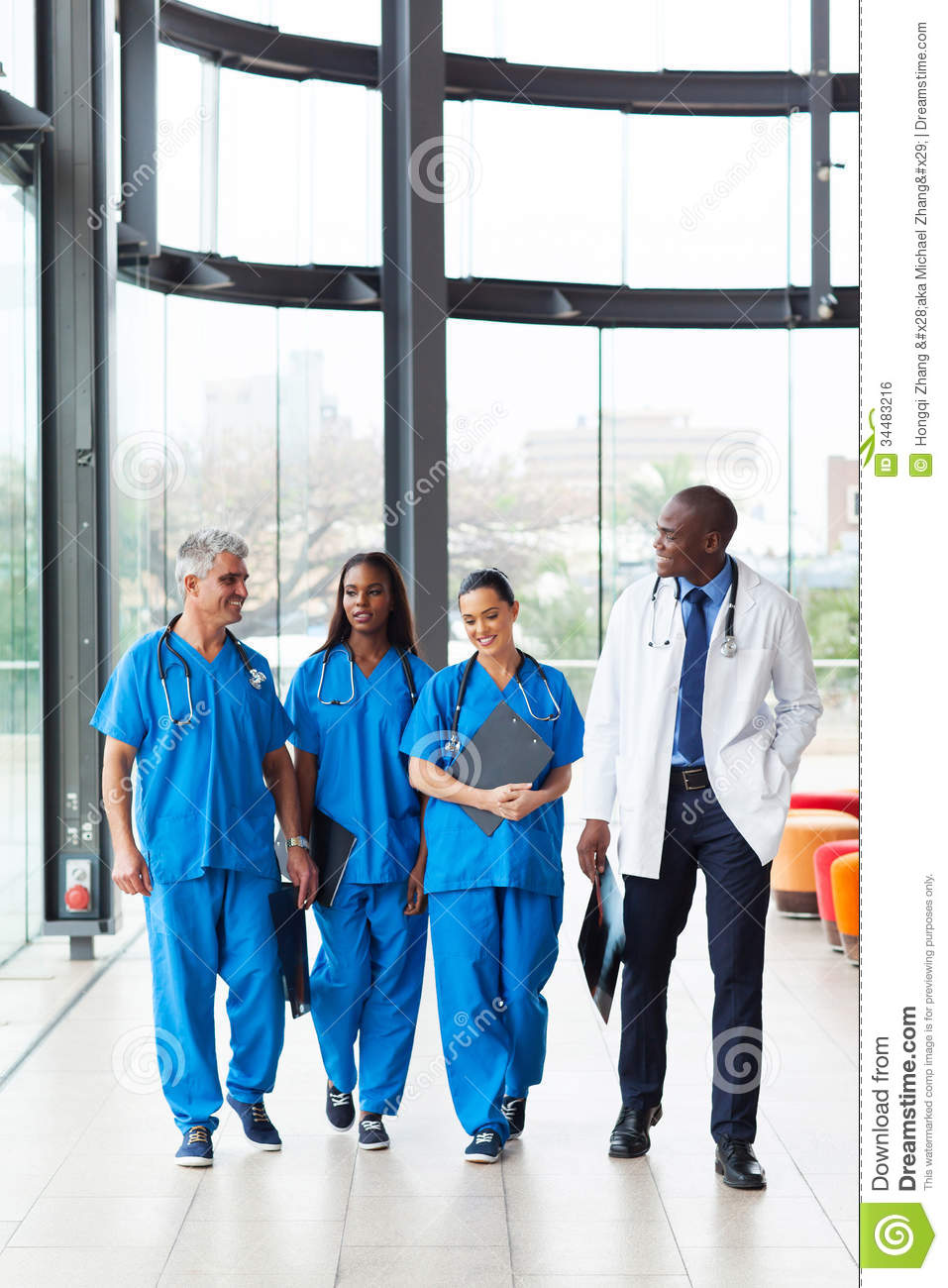 Health Care Workers Walking Royalty Free Stock Image - Image: 34483216
