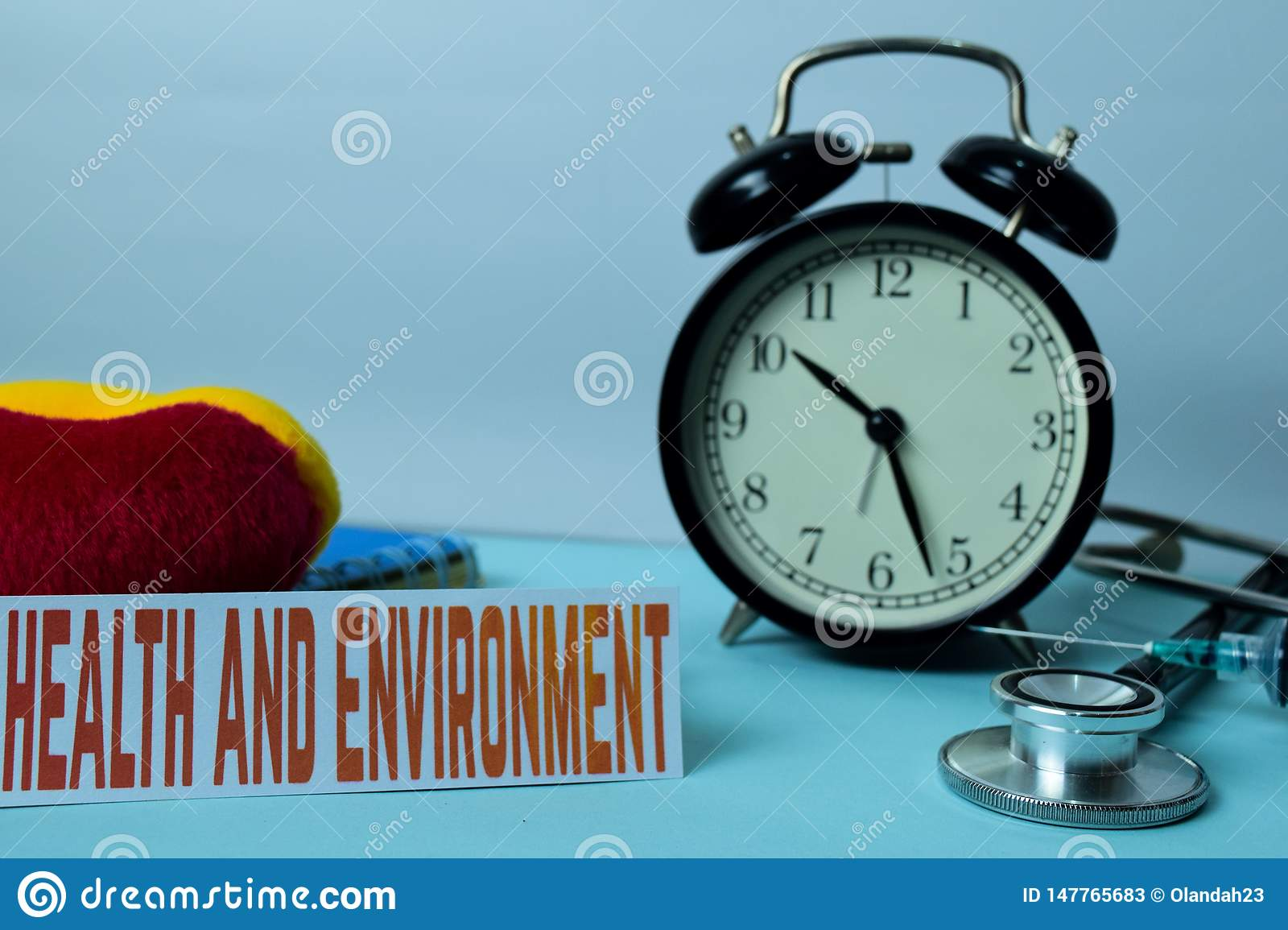 Health And Environment Planning On Background Of Working