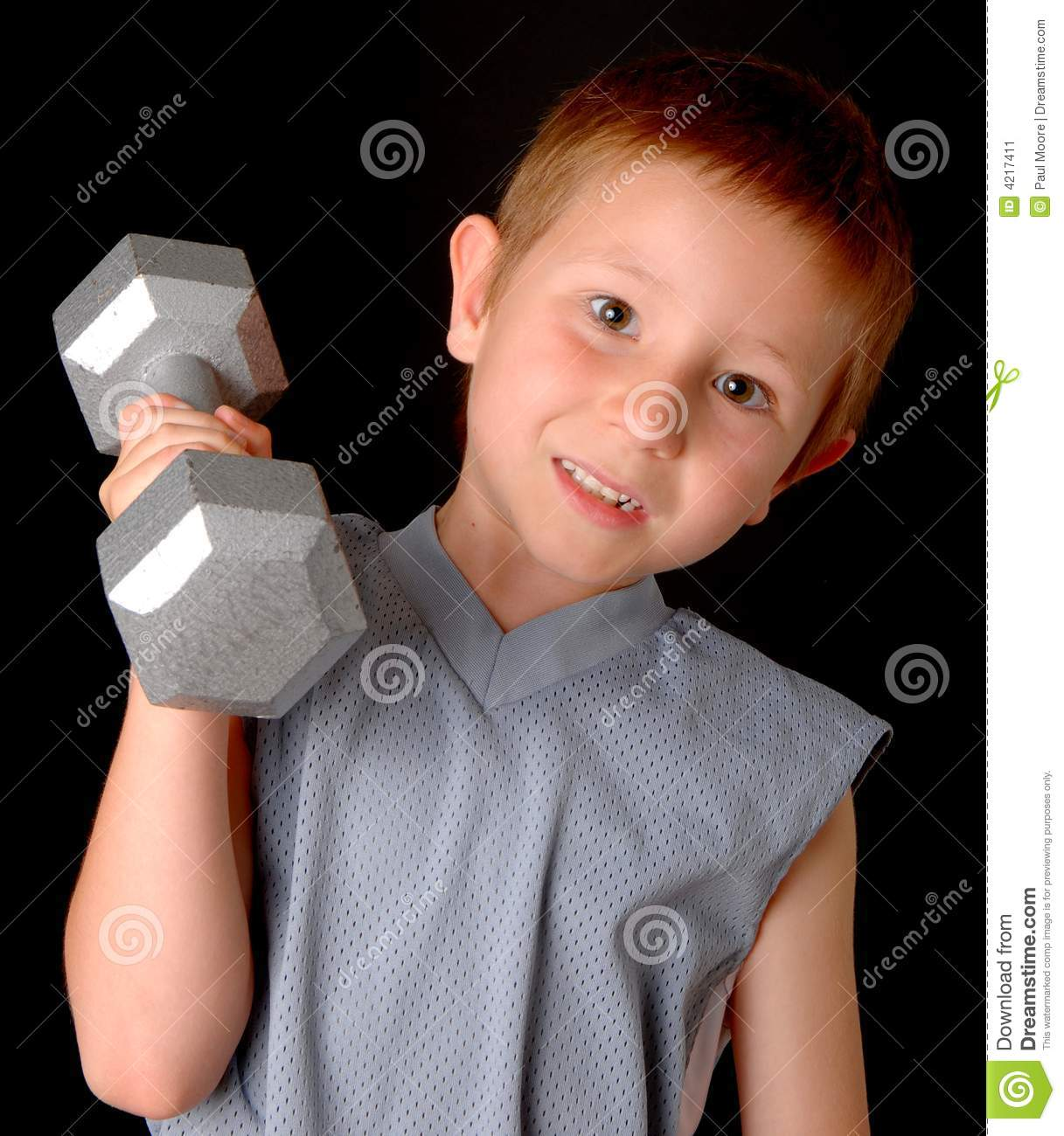 Health And Fitness Boy Stock Image - Image: 4217411