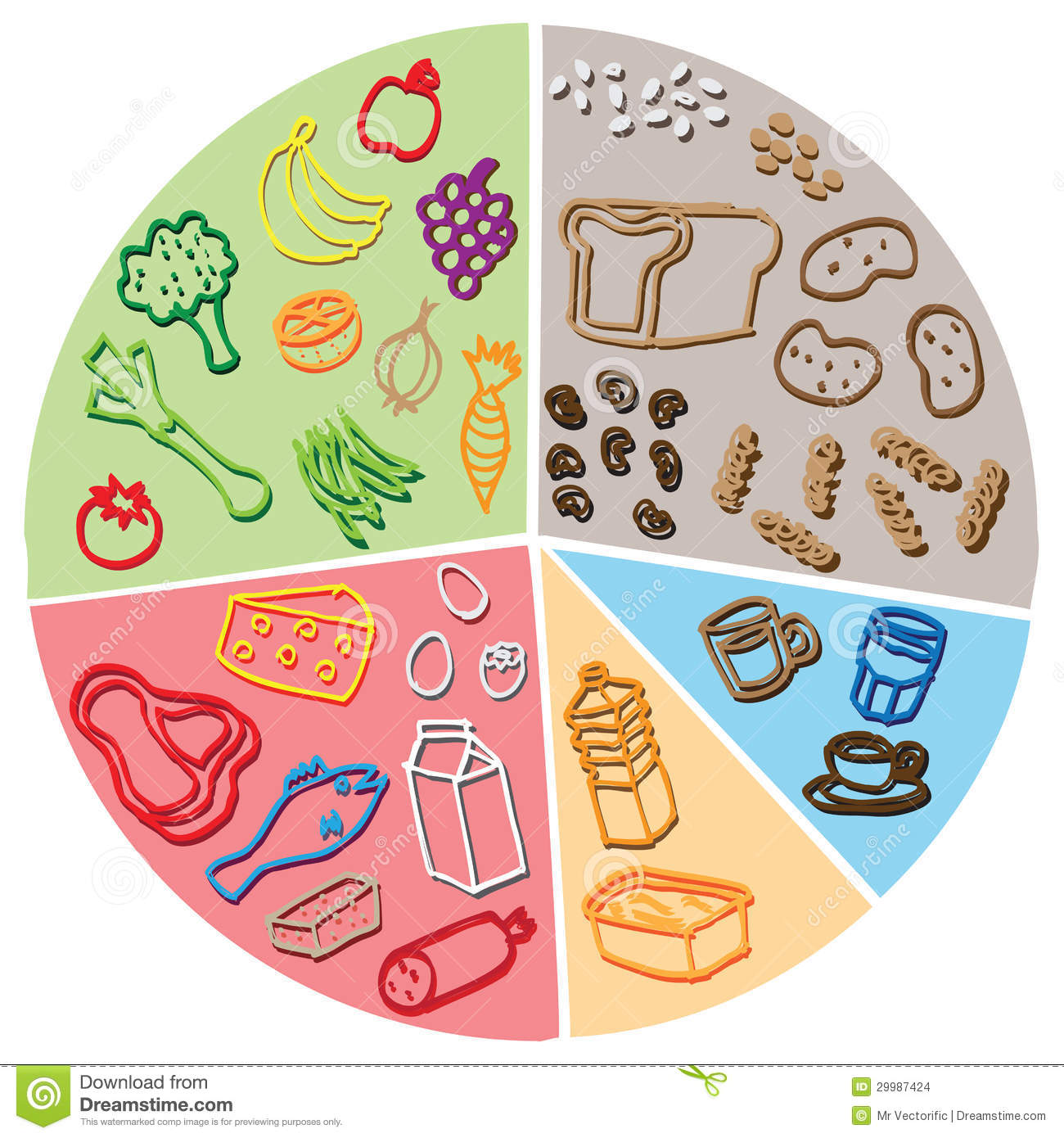 Health Food Diagram St...