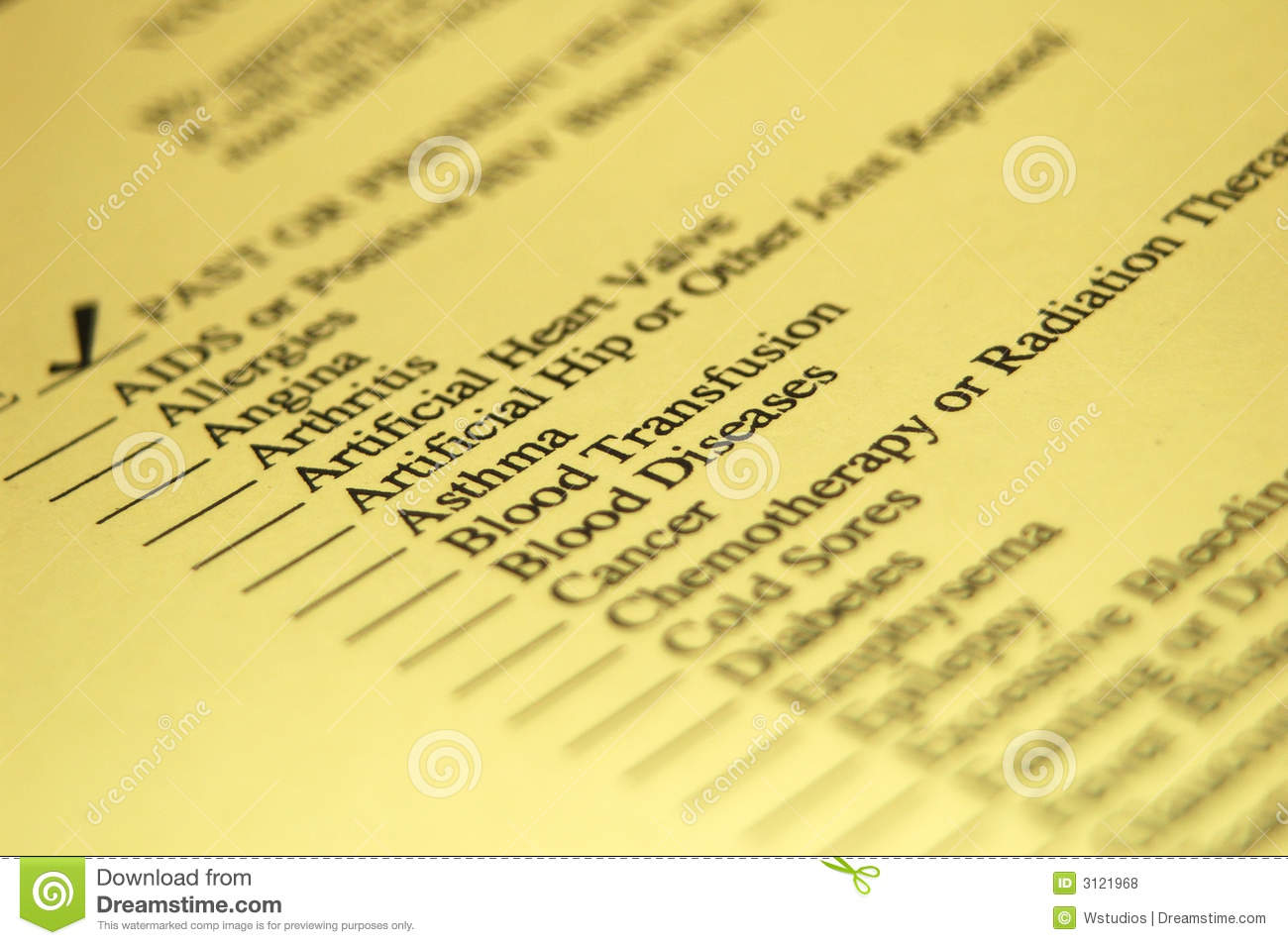 Health History Royalty Free Stock Photos - Image: 3121968