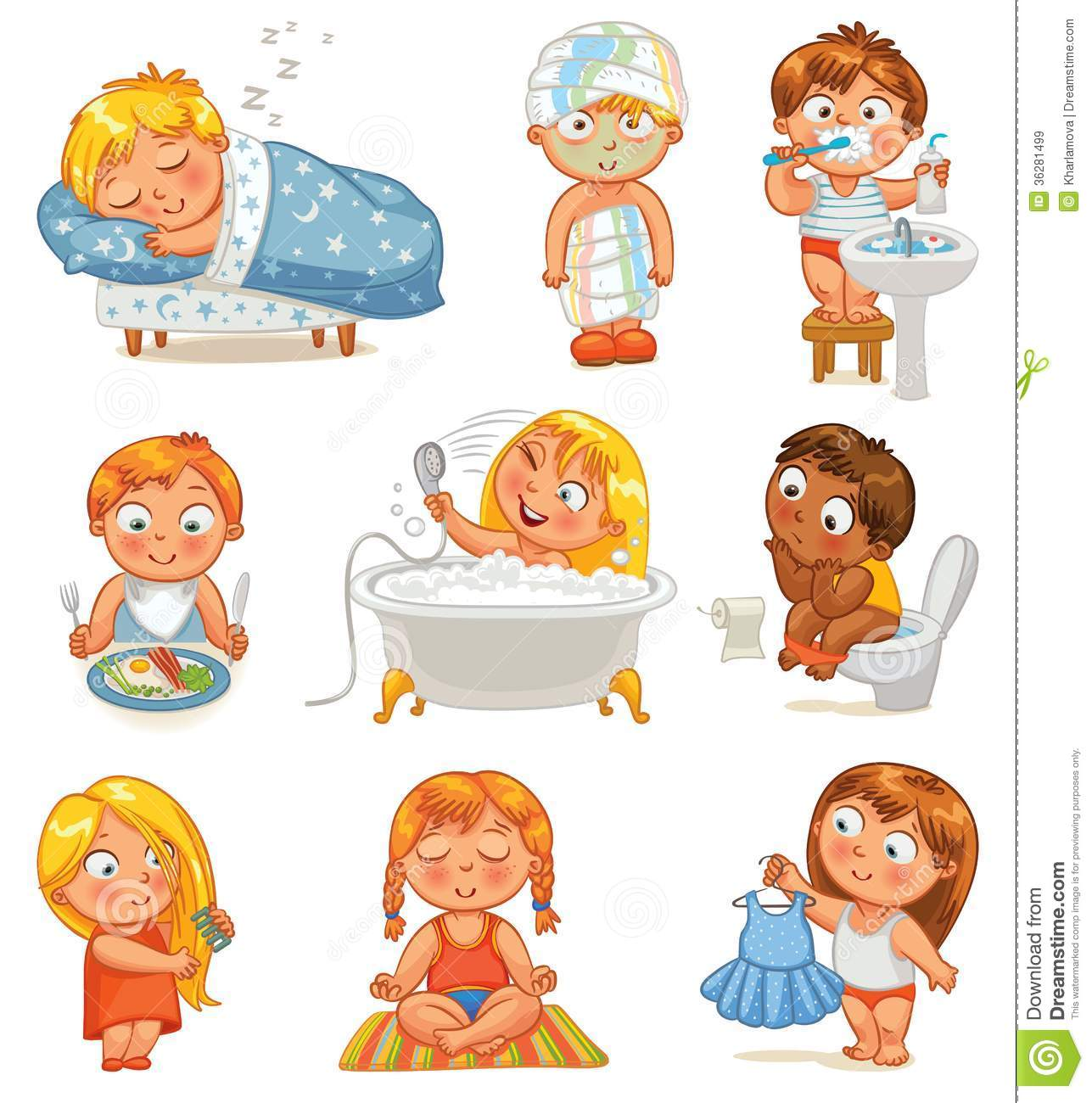 Health And Hygiene Stock Vector Illustration Of Child
