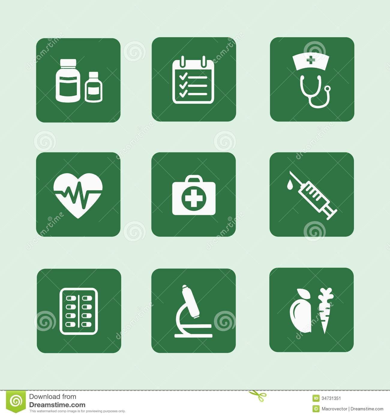 Health Icons Set Stock Image - Image: 34731351