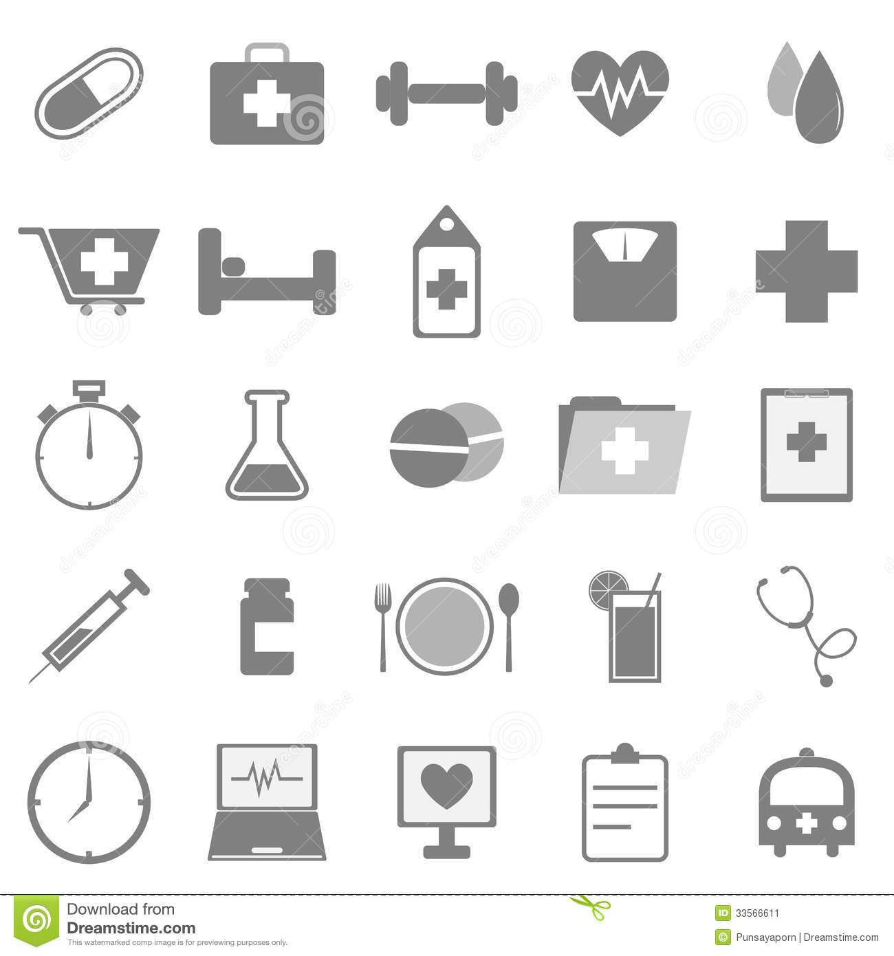 Health Icons On White Background Stock Image - Image: 33566611