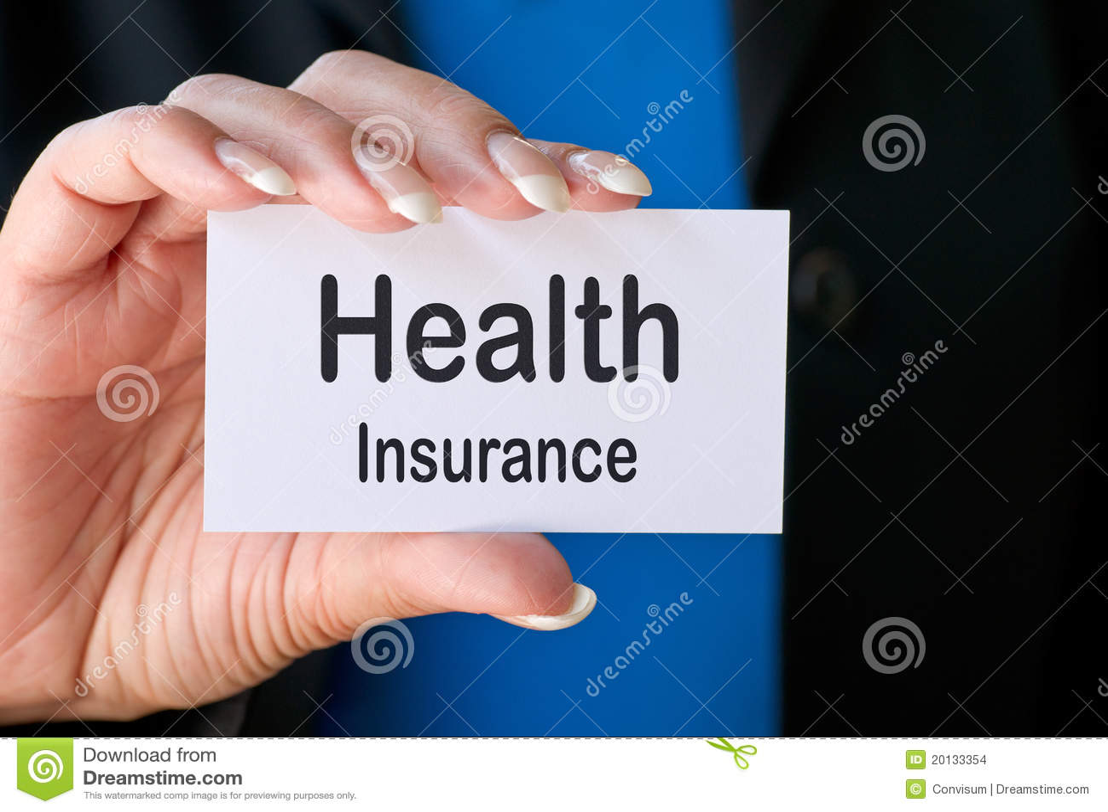 Health insurance business card stock photo image of businessperson health insurance business card royalty free stock photo reheart Choice Image