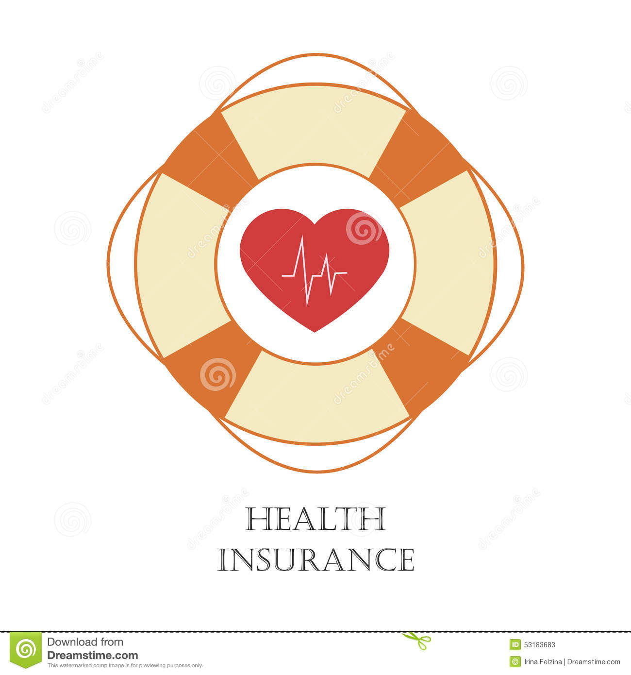 Health Insurance Sign Stock Vector - Image: 53183683
