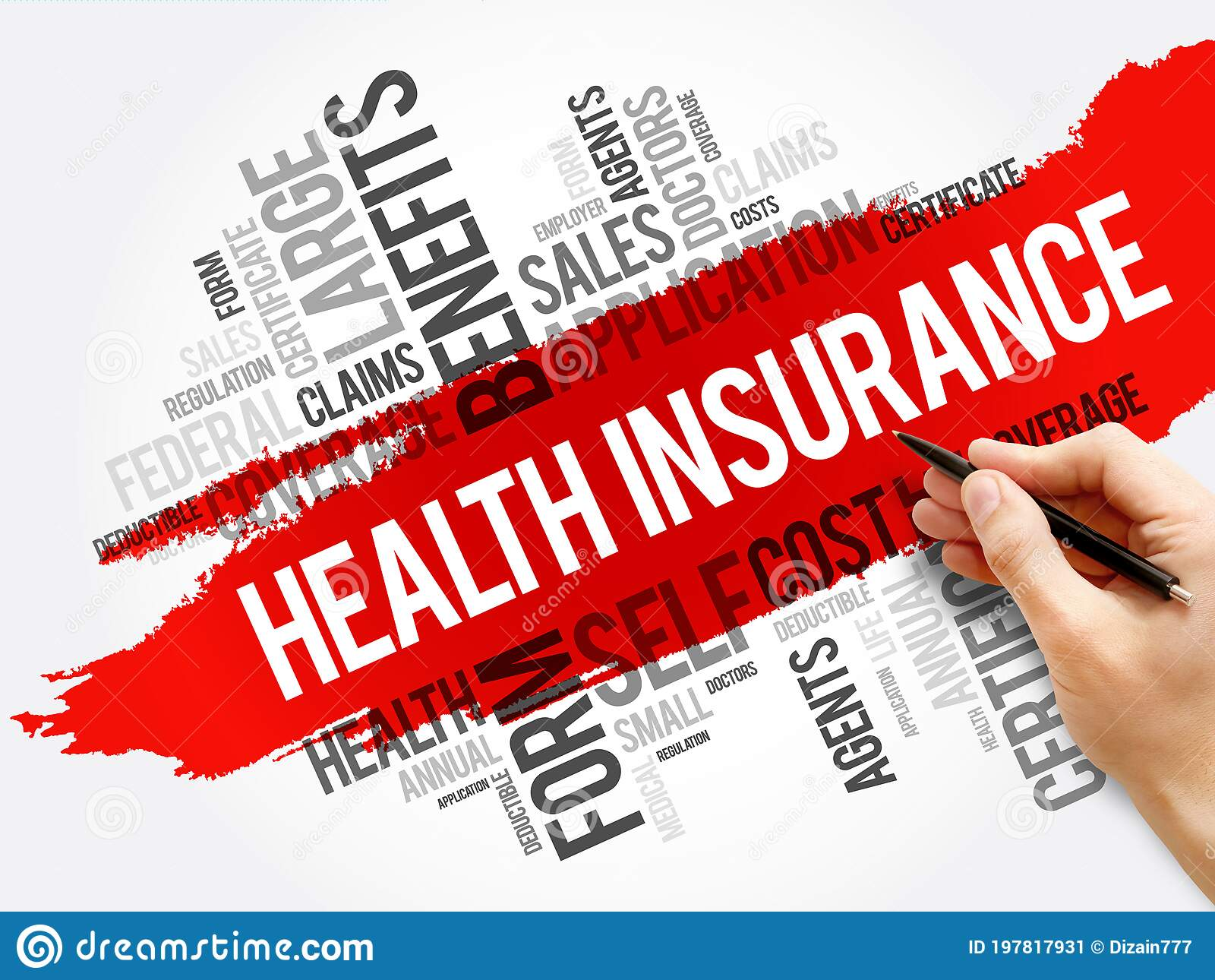 Health Insurance Word Cloud Collage Stock Image - Image of ...