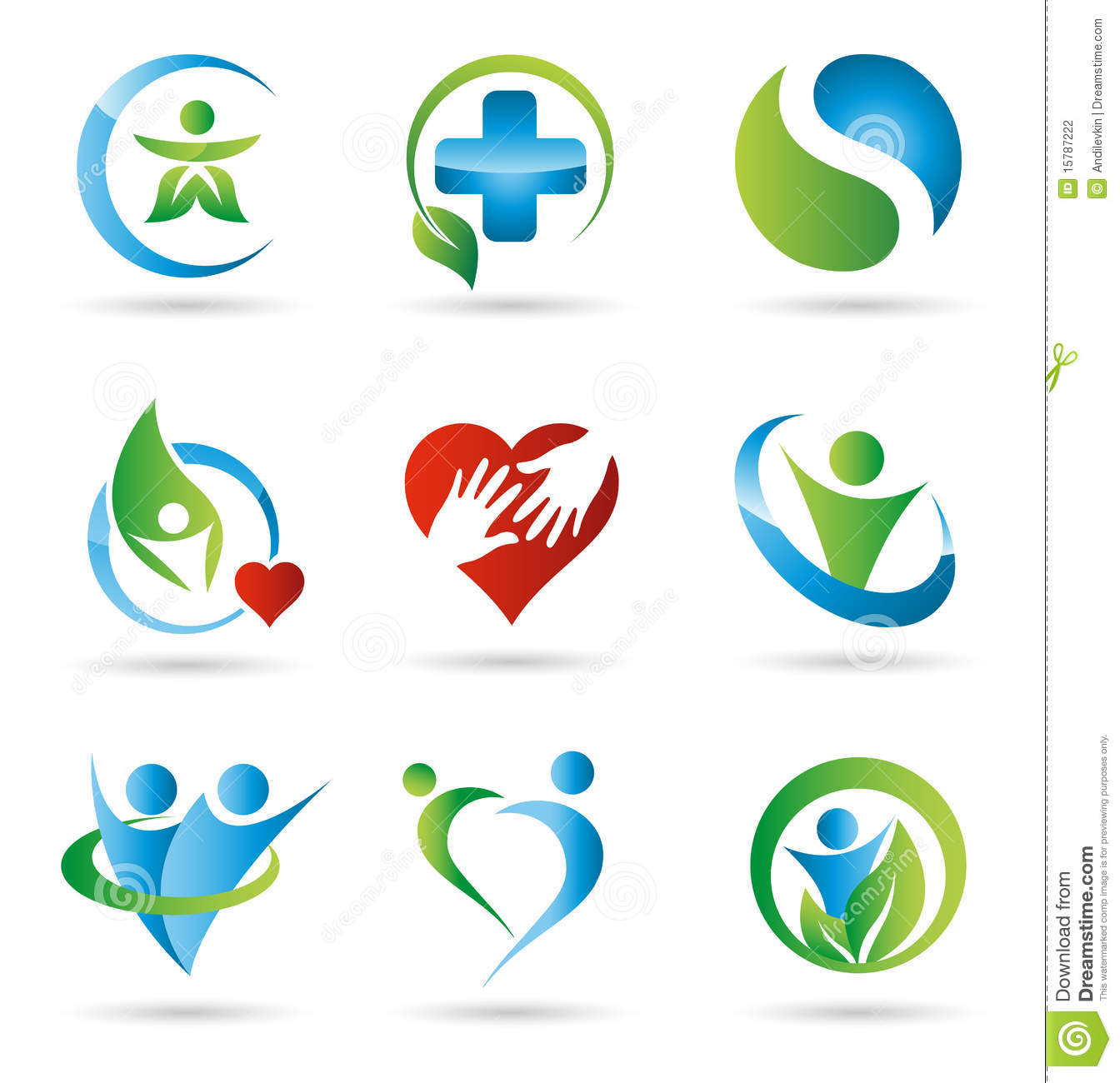Health Logos Stock Photography Image 15787222