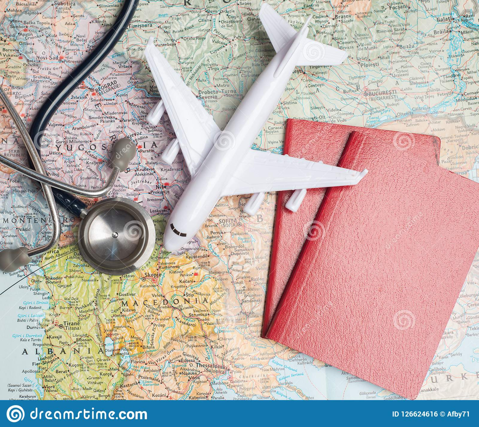 Health/medical Tourism Or Foreign Insurance Travel Stock ...