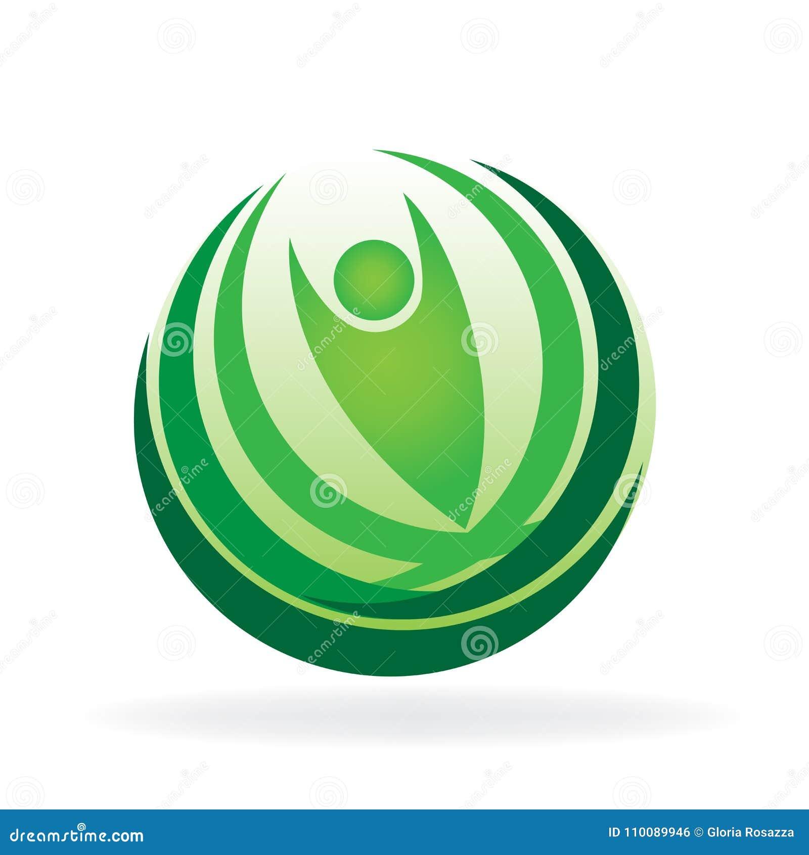 Health nature vector web identity card logo icon template