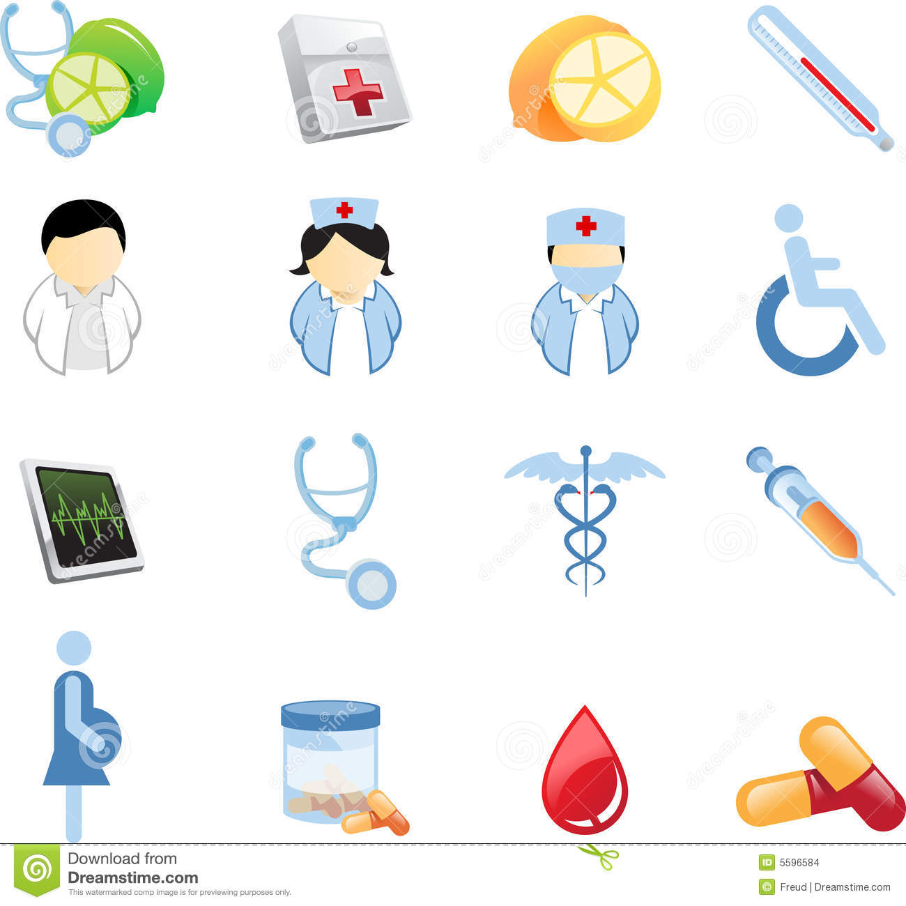 Up to 16 Health And Nutrition Icons isolated over white background.
