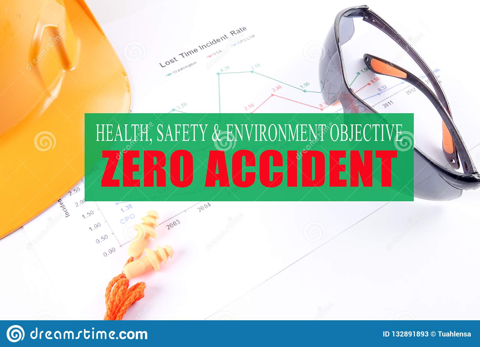 HEALTH,SAFETY & ENVIRONMENT OBJECTIVE: ZERO ACCIDENT with yellow