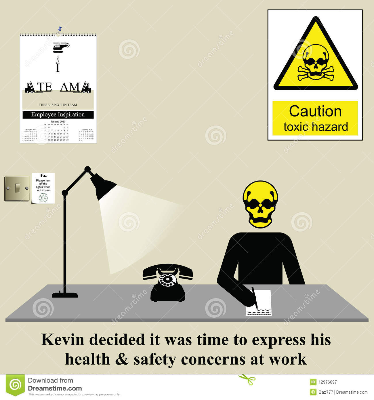 Worker writing letter of complaint regarding health and safety issues ...