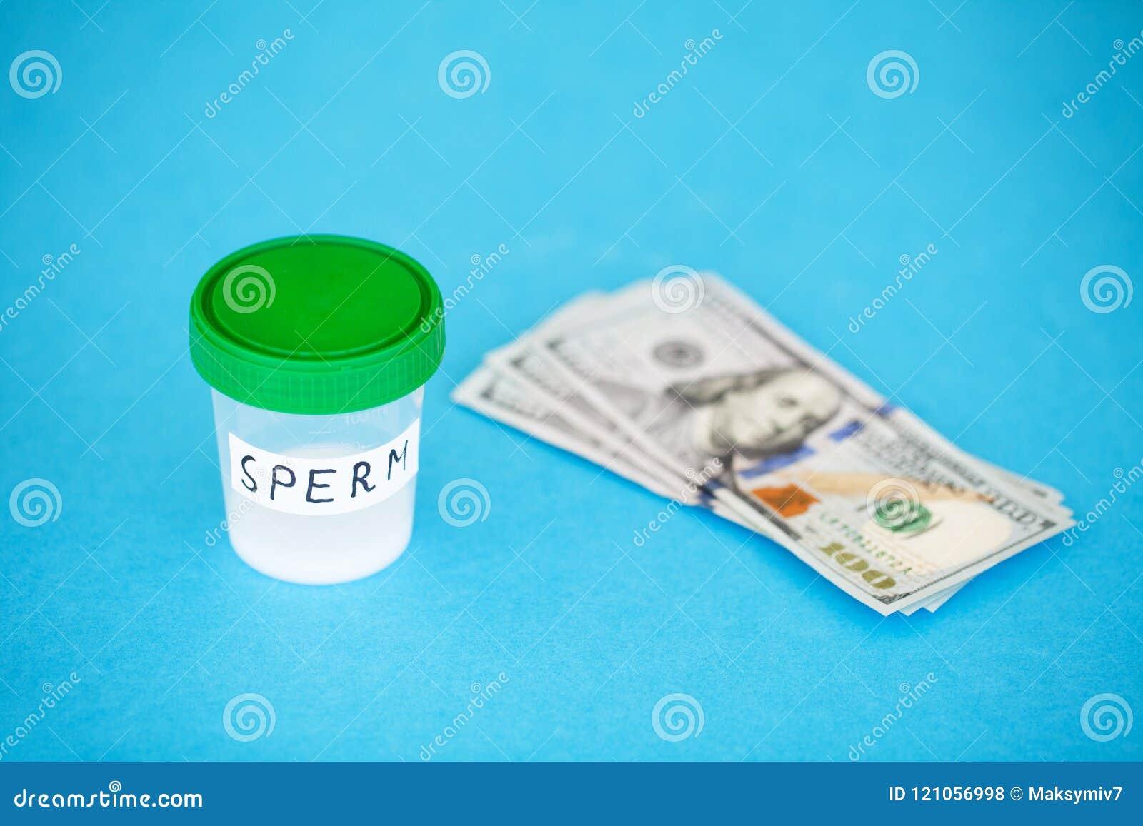 Health. Sample sperm. Donor Sperm Close Concept of Bank Sperm. S