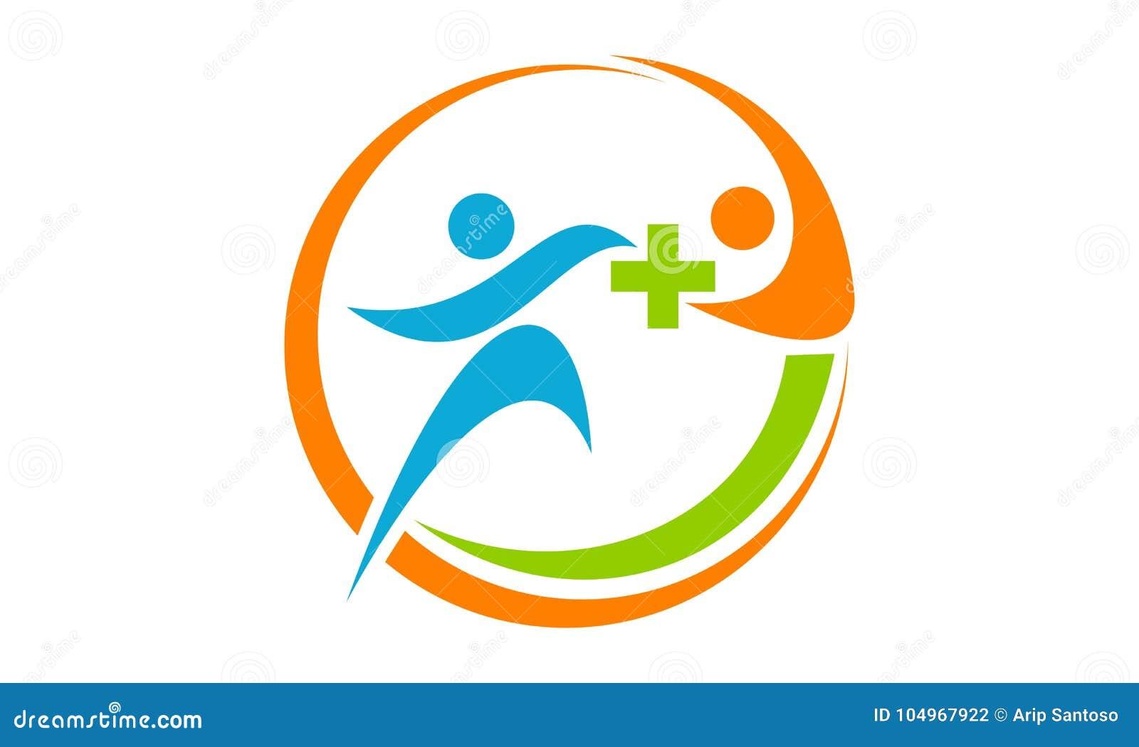 Health Solution Logo Design Template Stock Vector - Illustration of ...