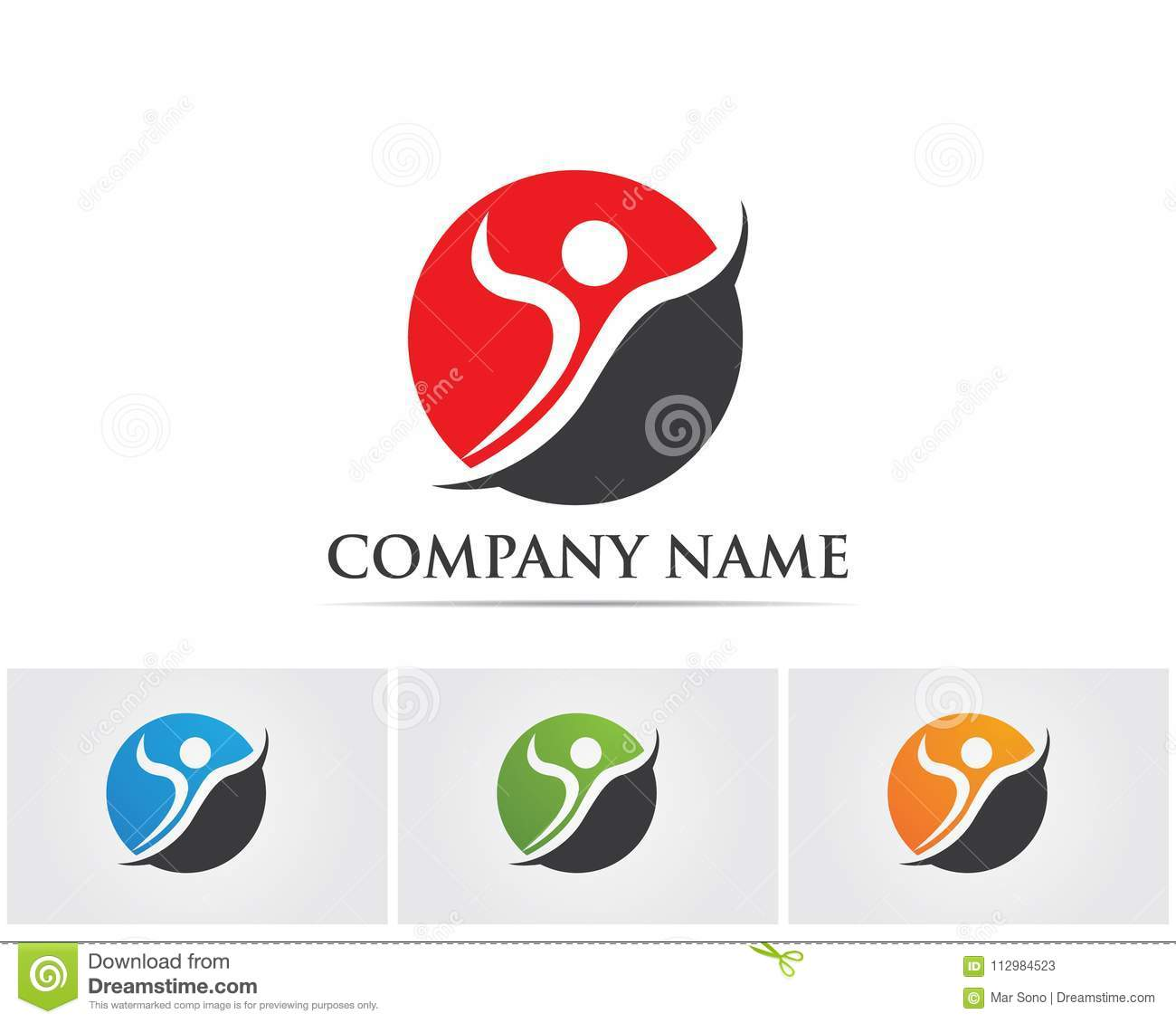 Health success people care logo and symbols template..