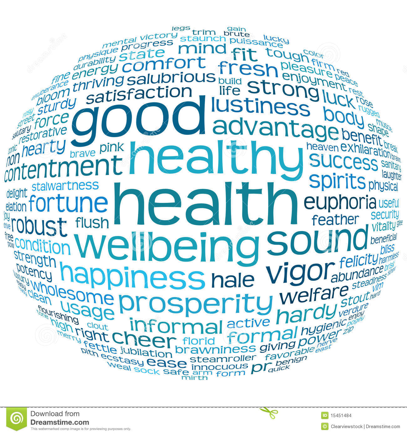 Health And Wellbeing Tag Or Word Cloud Stock Images - Image: 15451484