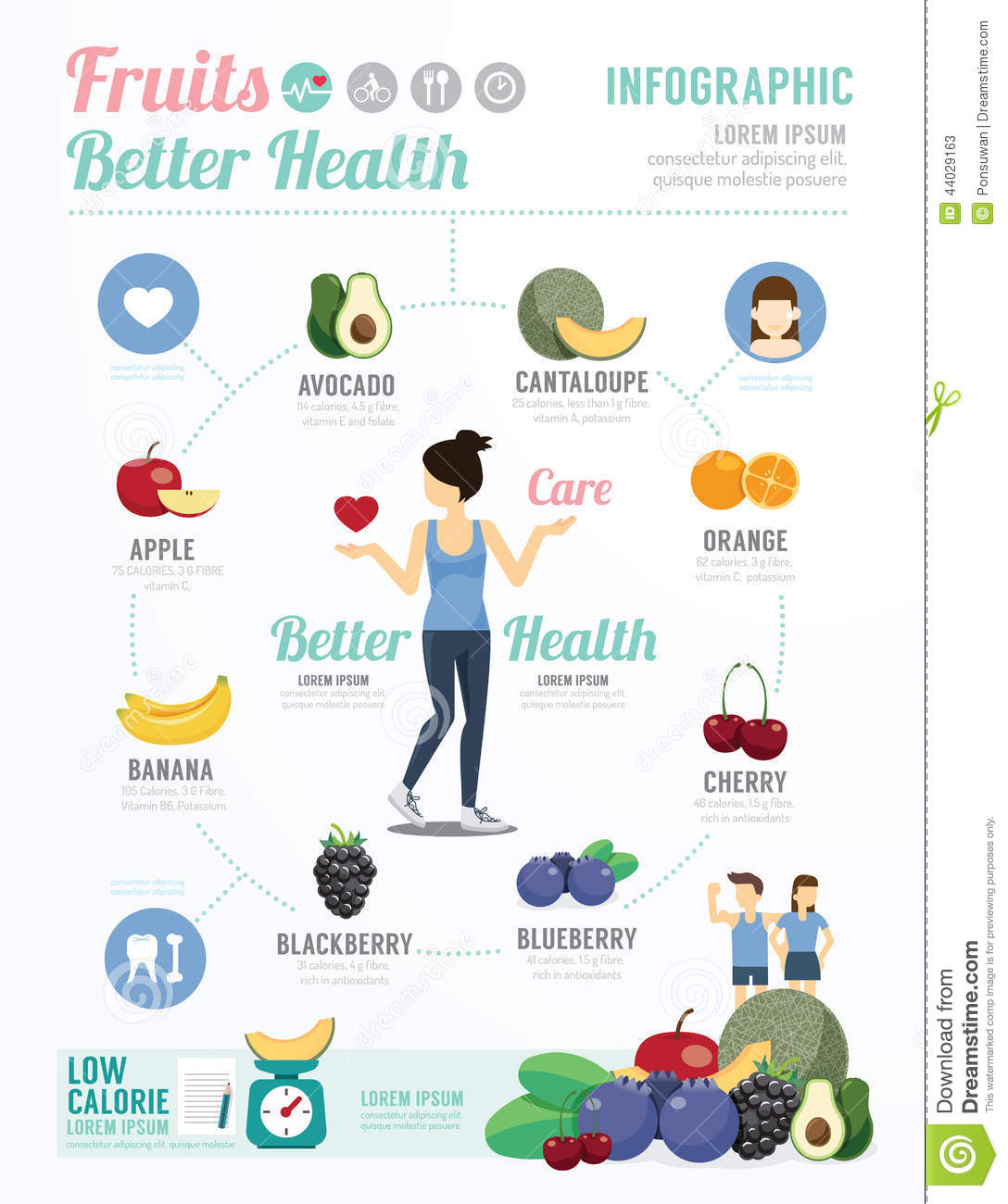 Health and wellness template design fruit for healthy infograph download comp toneelgroepblik Image collections