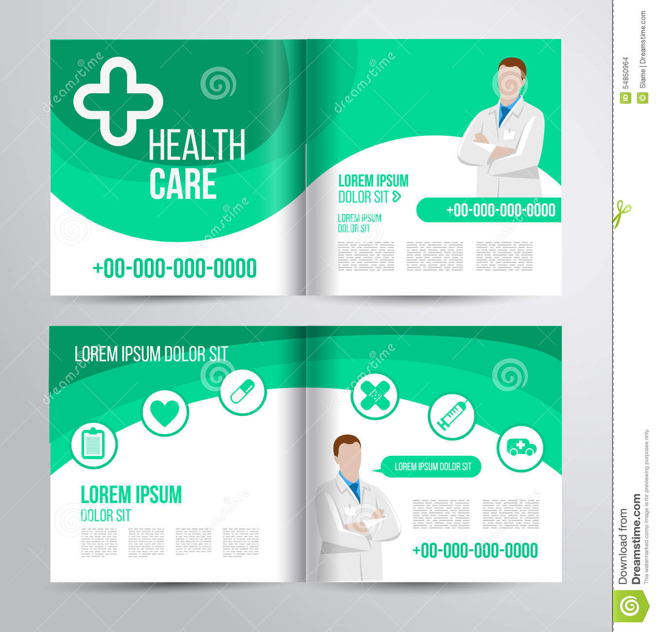 Healthcare Brochure | Healthcare Brochure Stock Vector Illustration Of Analysis 54850964