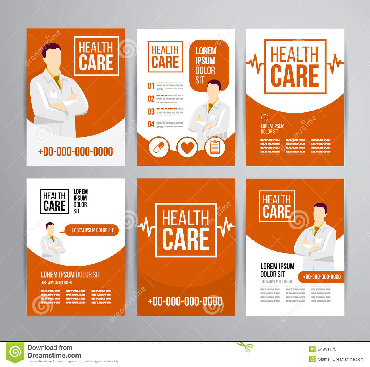 Healthcare brochure stock vector image 54851175 for Health pamphlet template