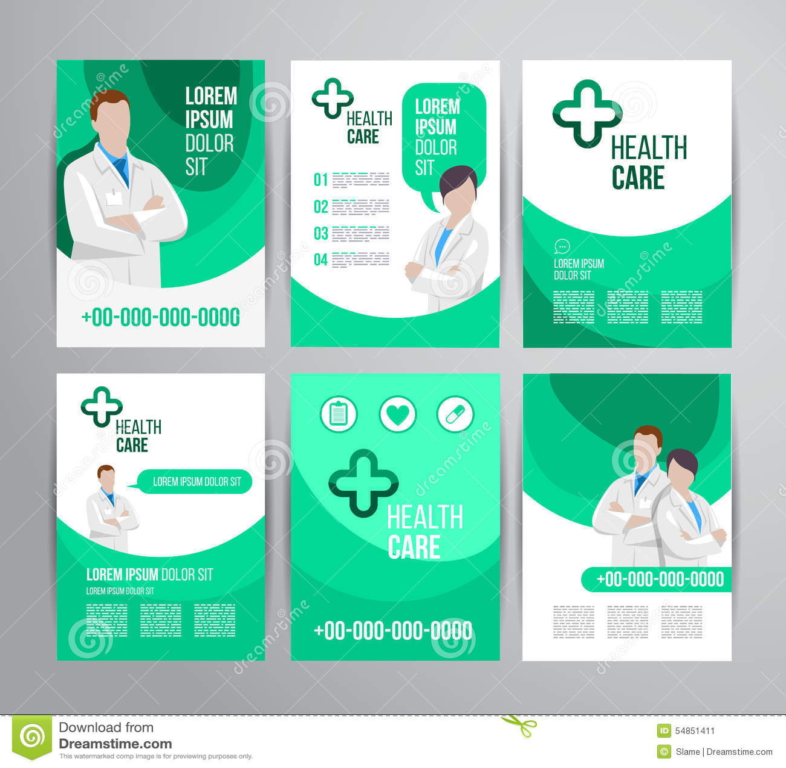 Healthcare Brochure. Hospital, Care.