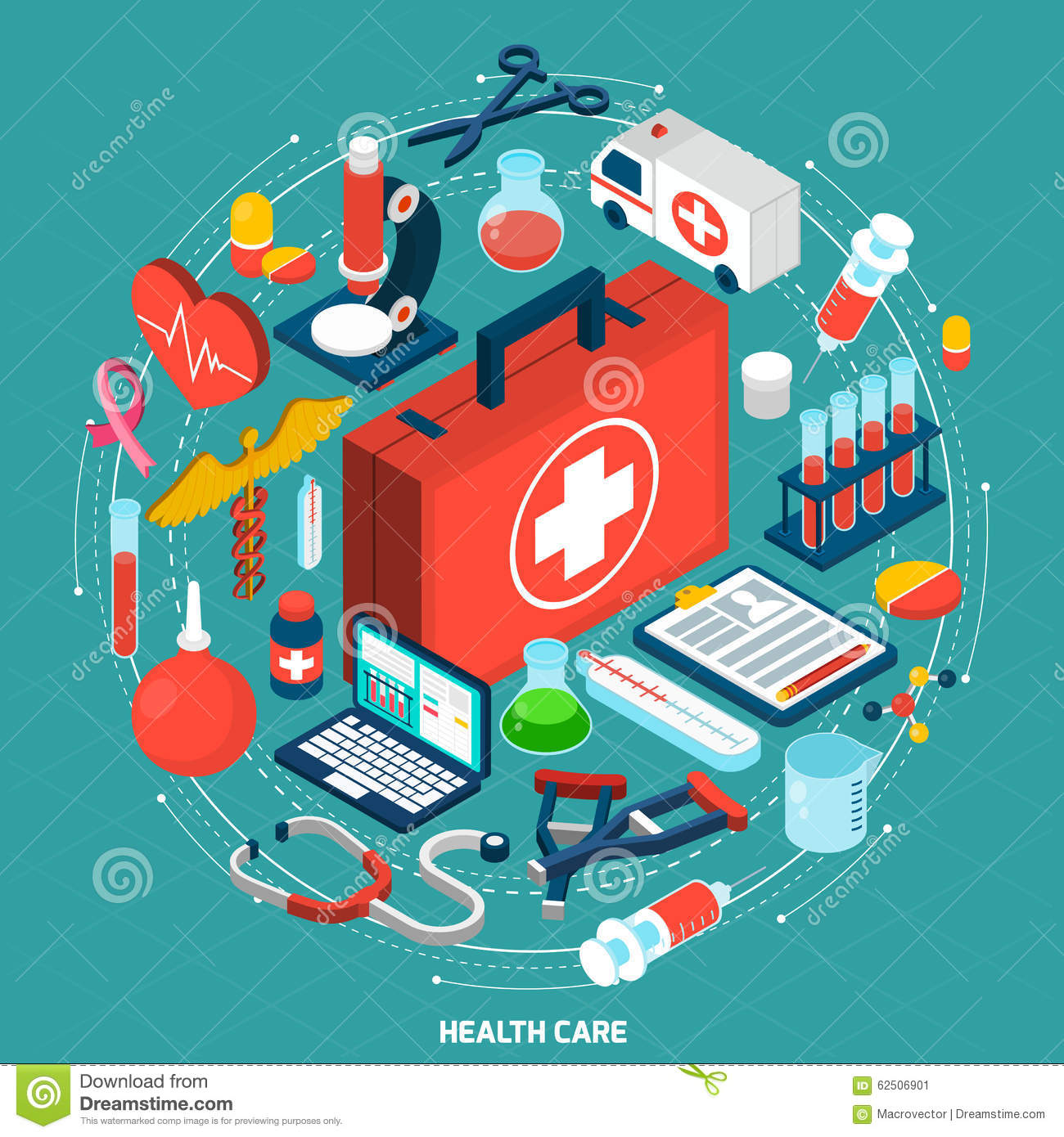 Healthcare Poster Stock Vector - Image: 62984644