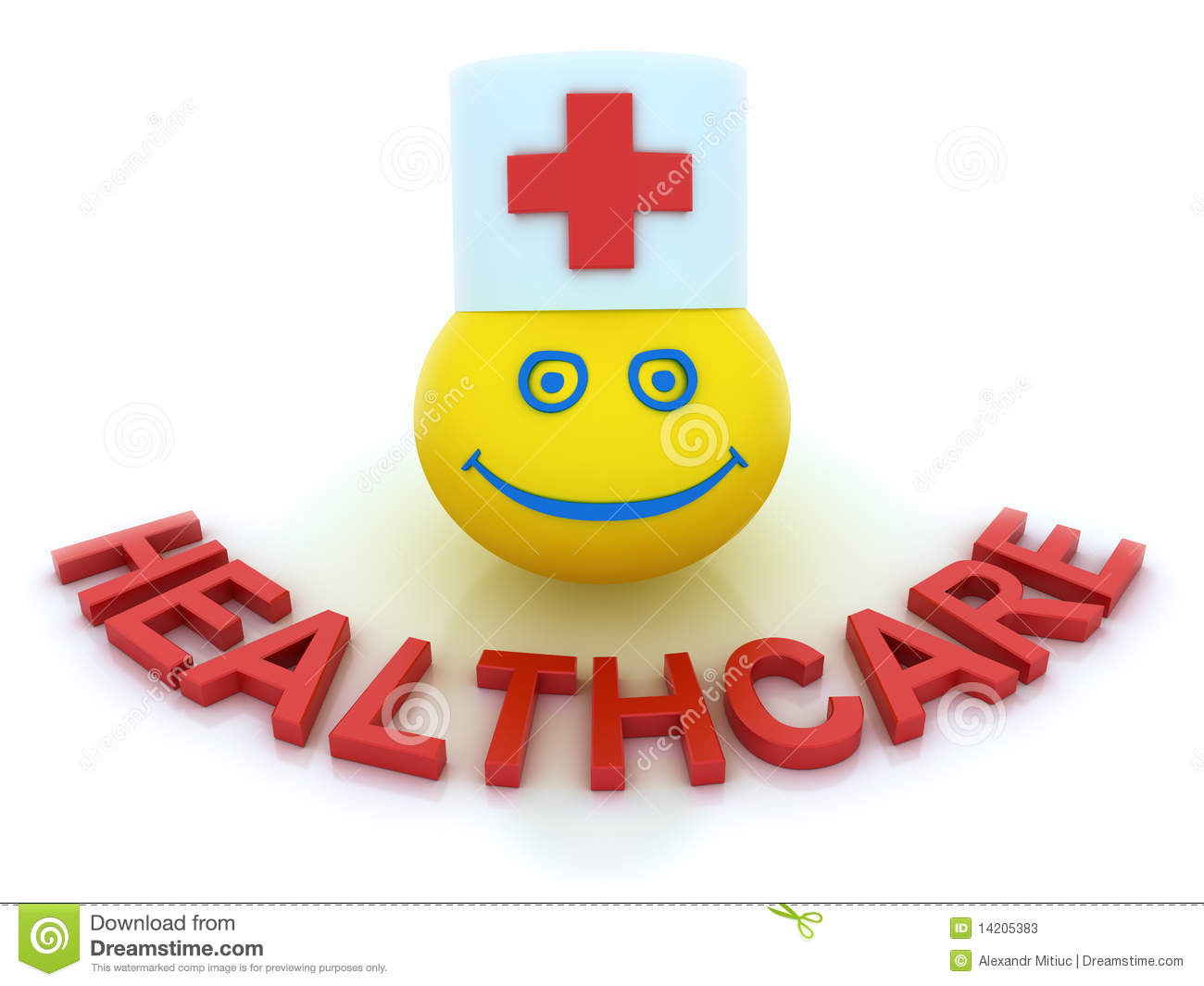 Healthcare Concept With A Smile Symbol Editorial Stock ...