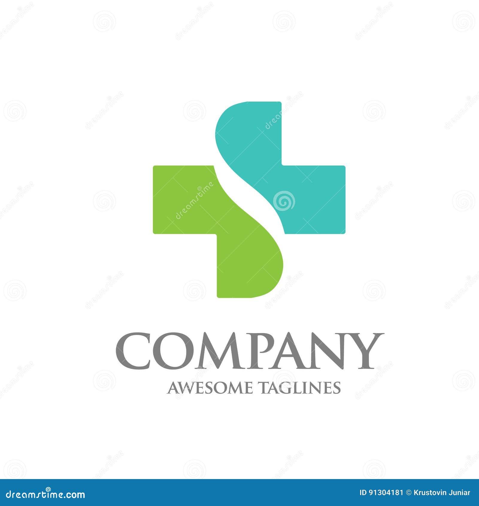 Healthcare Cross Letter S Logo Stock Vector - Illustration of