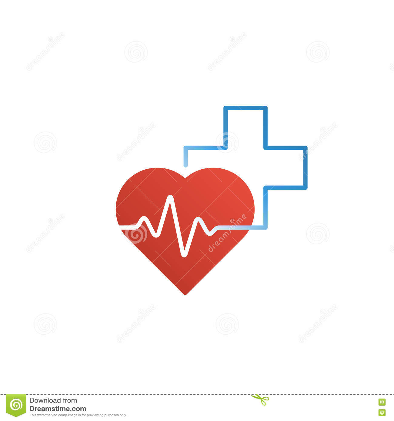 healthcare and medical logo and icon concept heart and