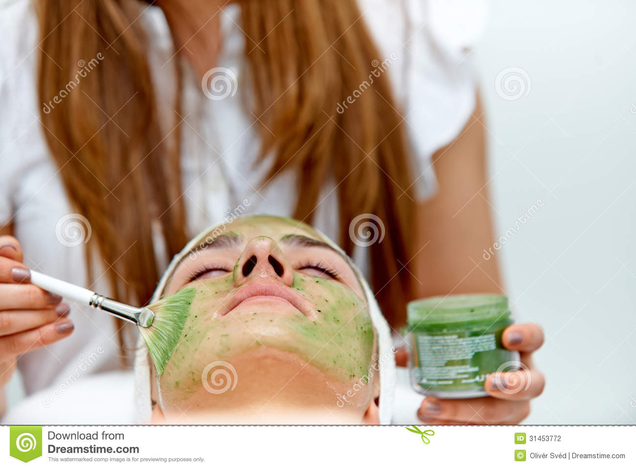 Healthcare treatment at the beauty salon stock photography for A trial beauty treatment salon