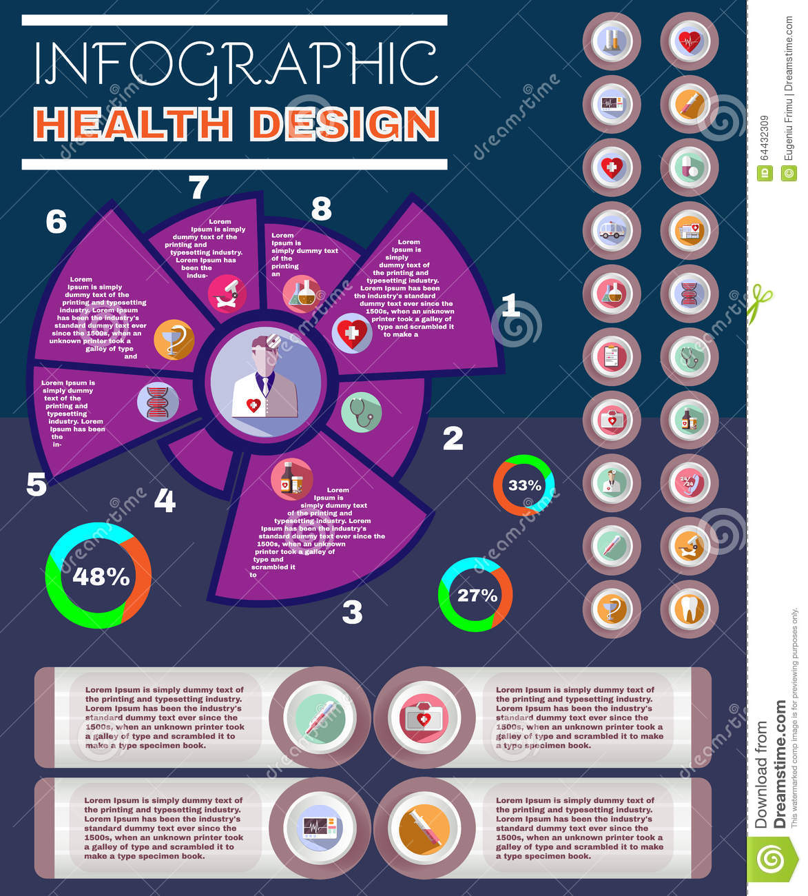 Healthcare Vector Infographic Pamphlet