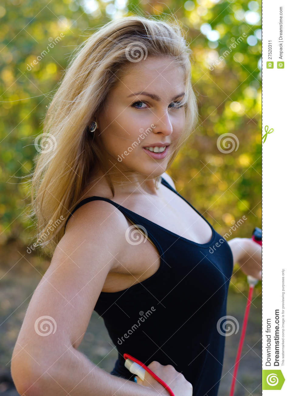 Healthy Active Blonde Woman Stock Image - Image: 27520311