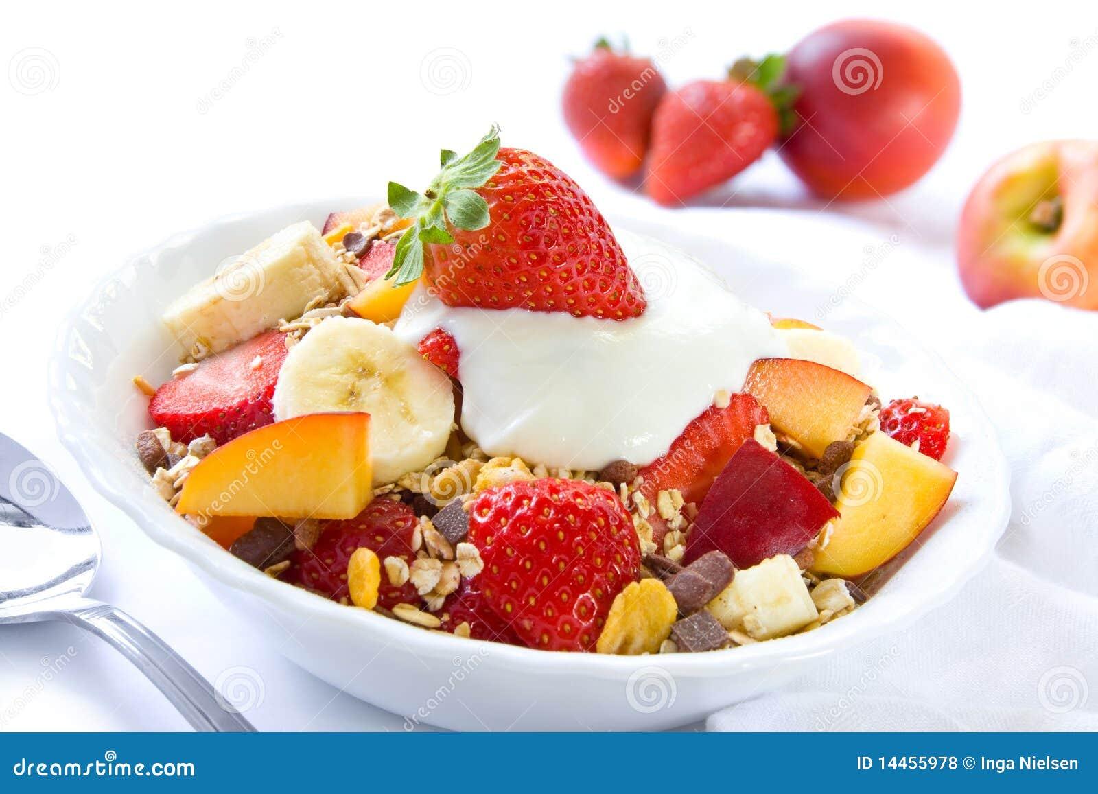 Healthy breakfast with cereals