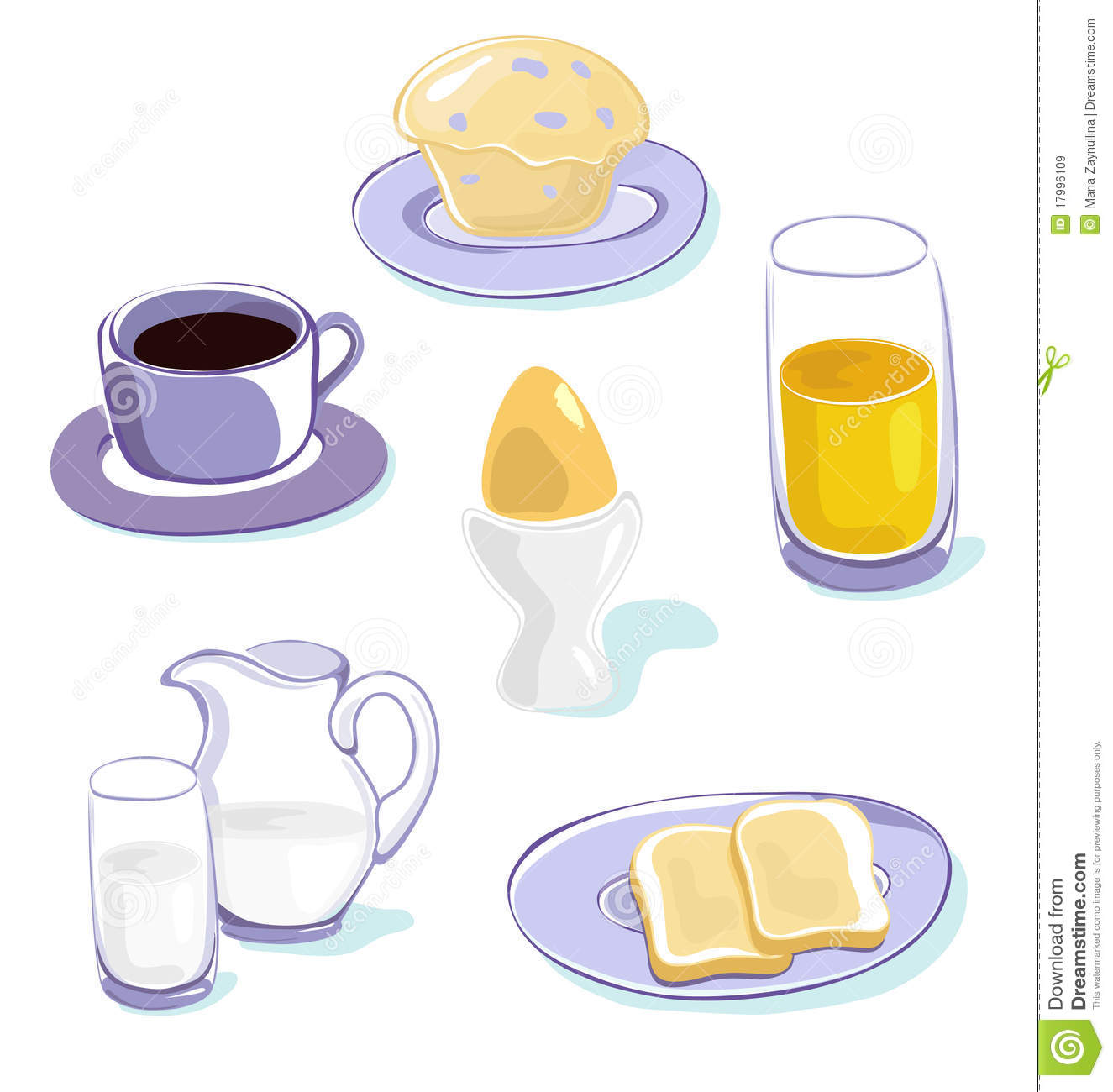Healthy Breakfast Clip Art Healthy breakfast icons