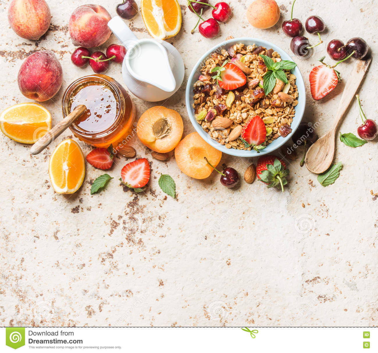 Healthy Breakfast Royalty Free Stock Image Cartoondealer