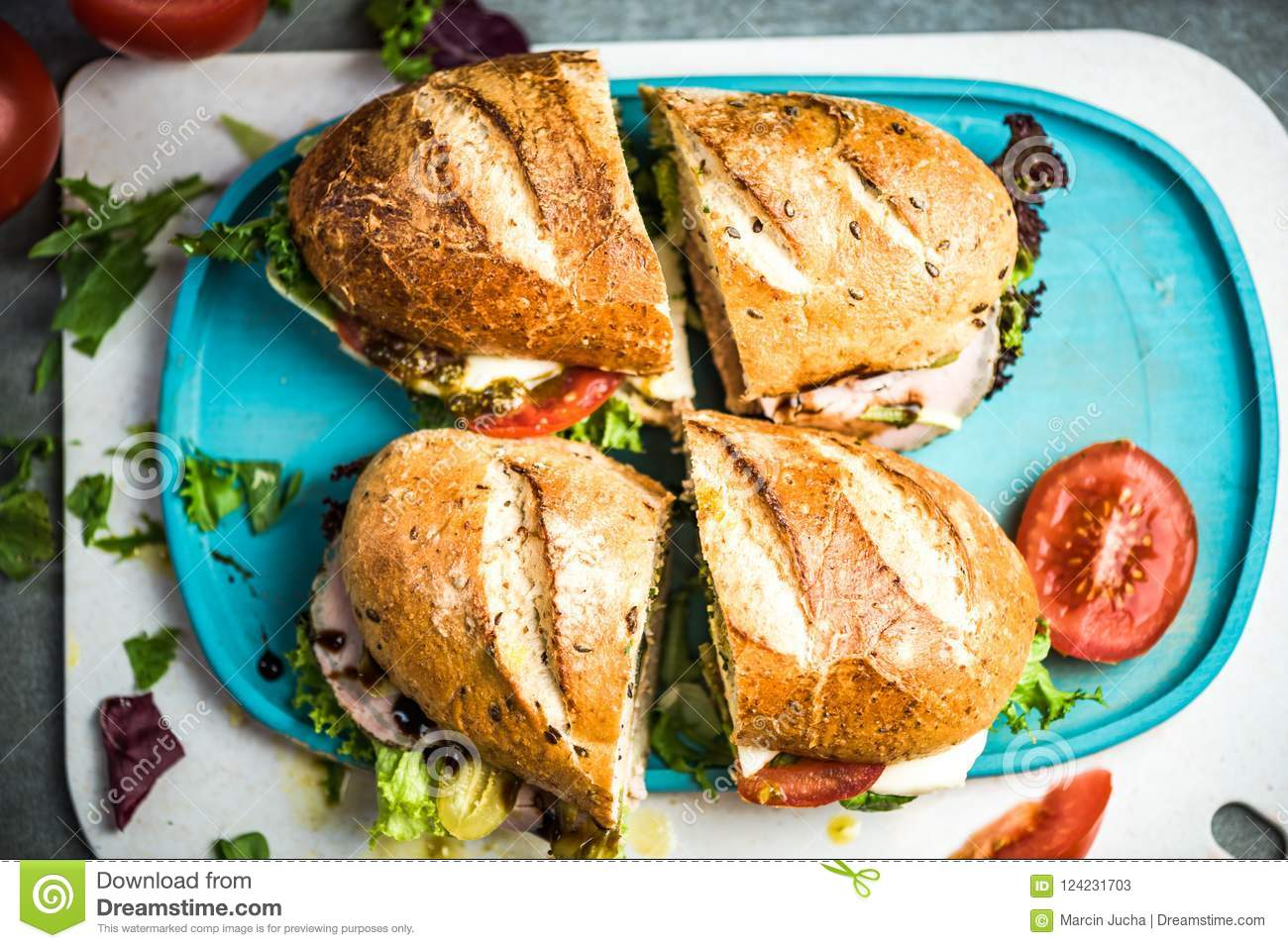 Healthy Brunch Or Breakfast Ideas Stock Image Image Of Meat